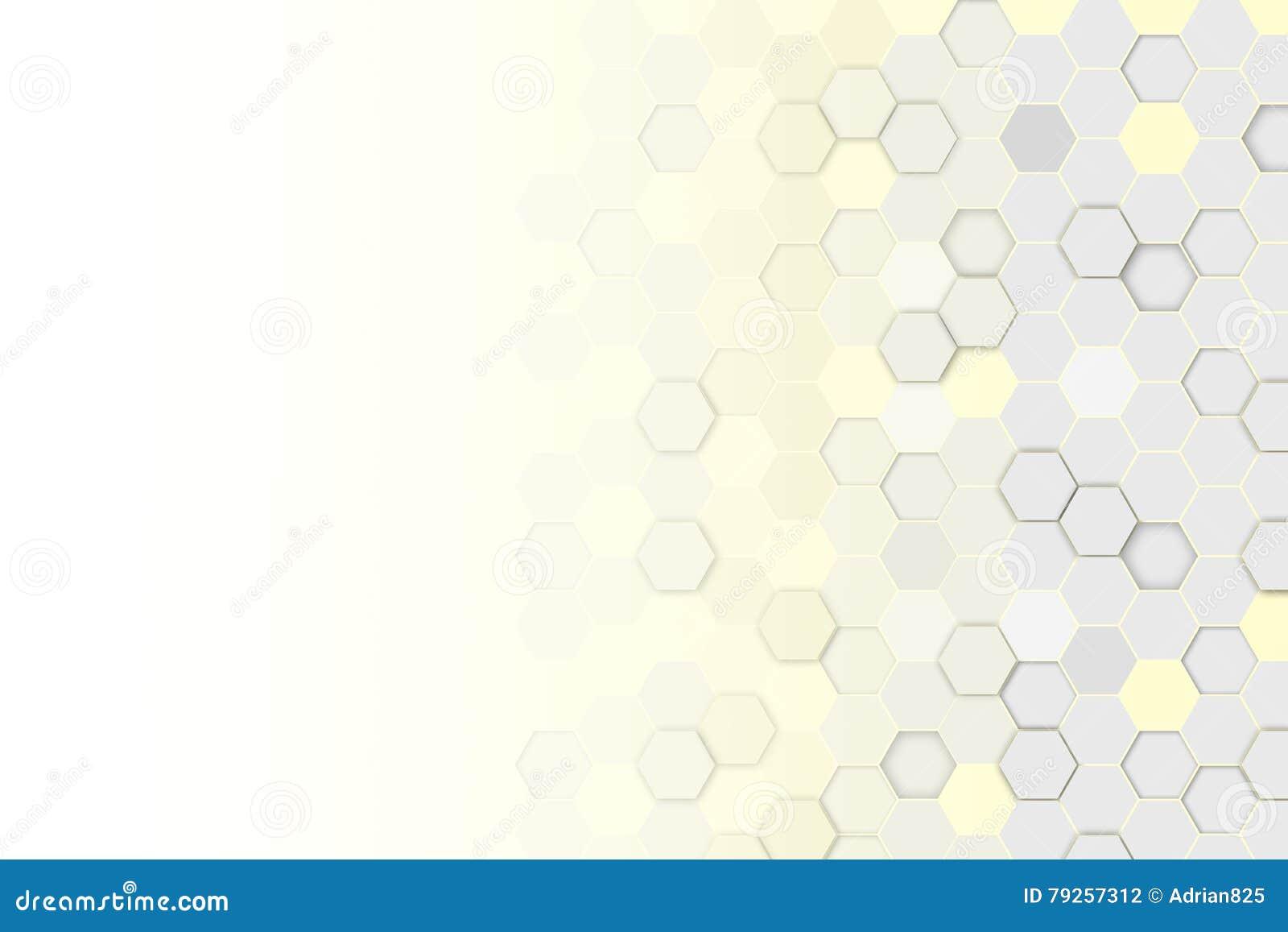 Fondo hexagonal del extracto 3d