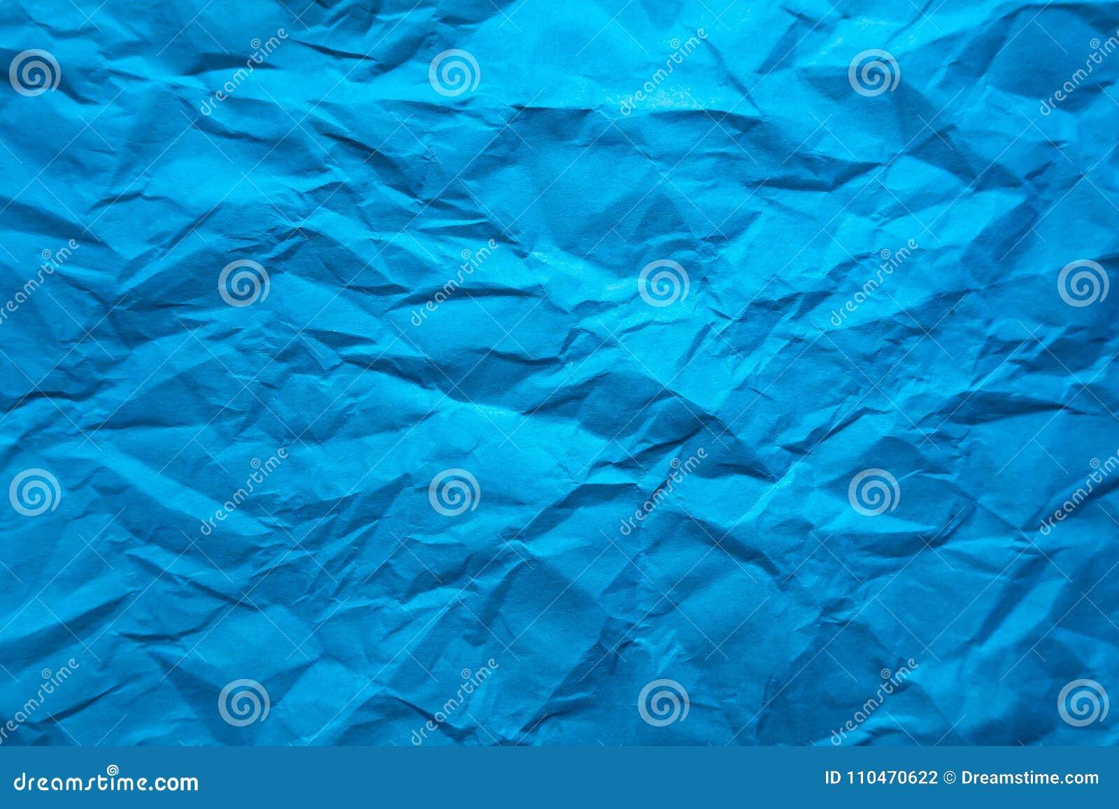 Fondos De Hojas De Papel: Fondo Hoja De Papel Azul Arrugada Foto De Archivo