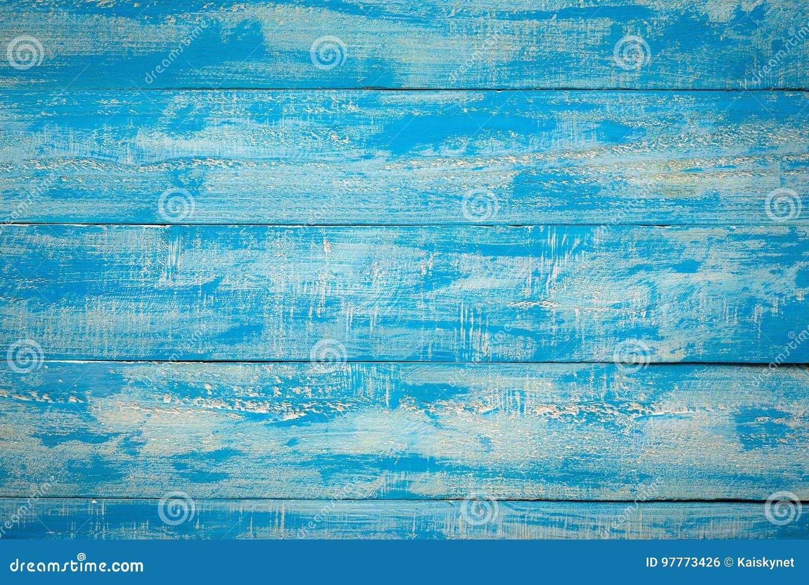 Fondo horizontal lamentable rústico de los listones de madera azules viejos