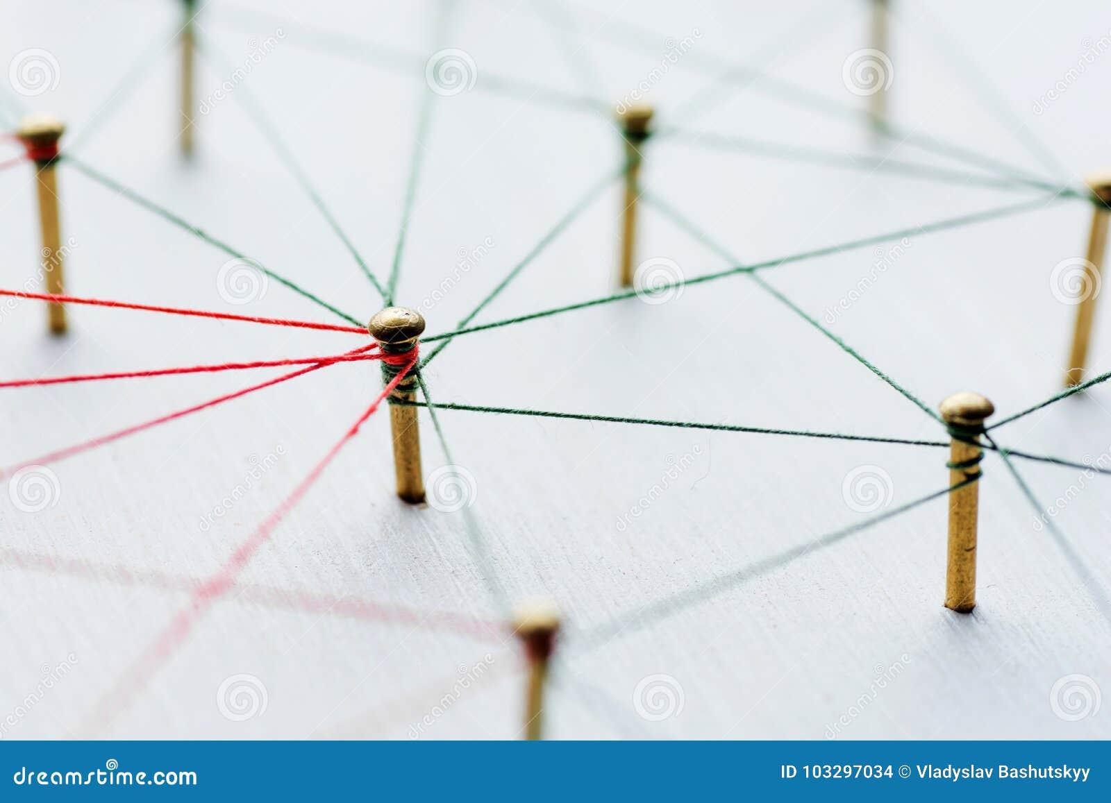 Fondo Idea Abstracta Del Concepto De La Red Medio Social Internet