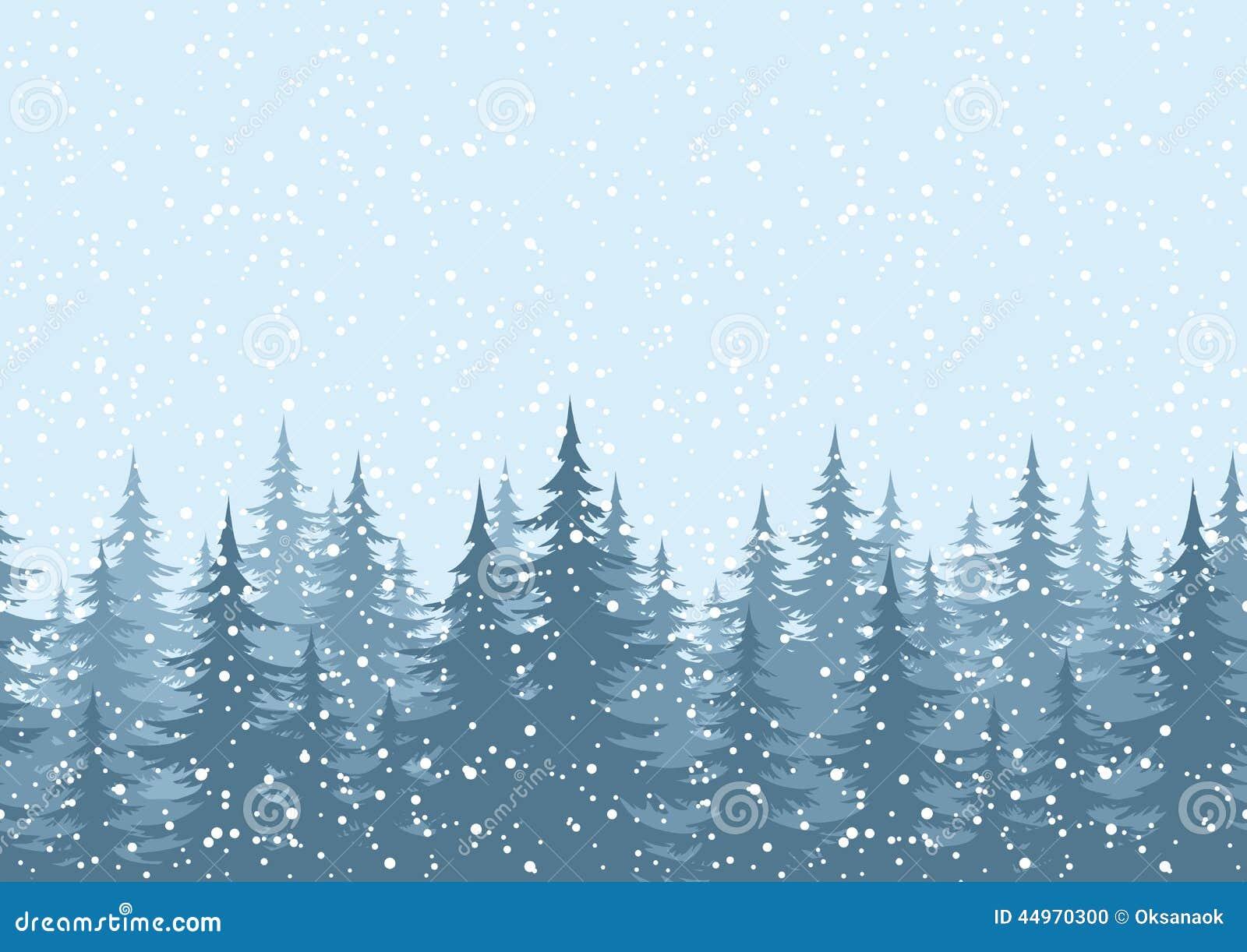 fondo inconstil rboles de navidad con nieve foto de archivo