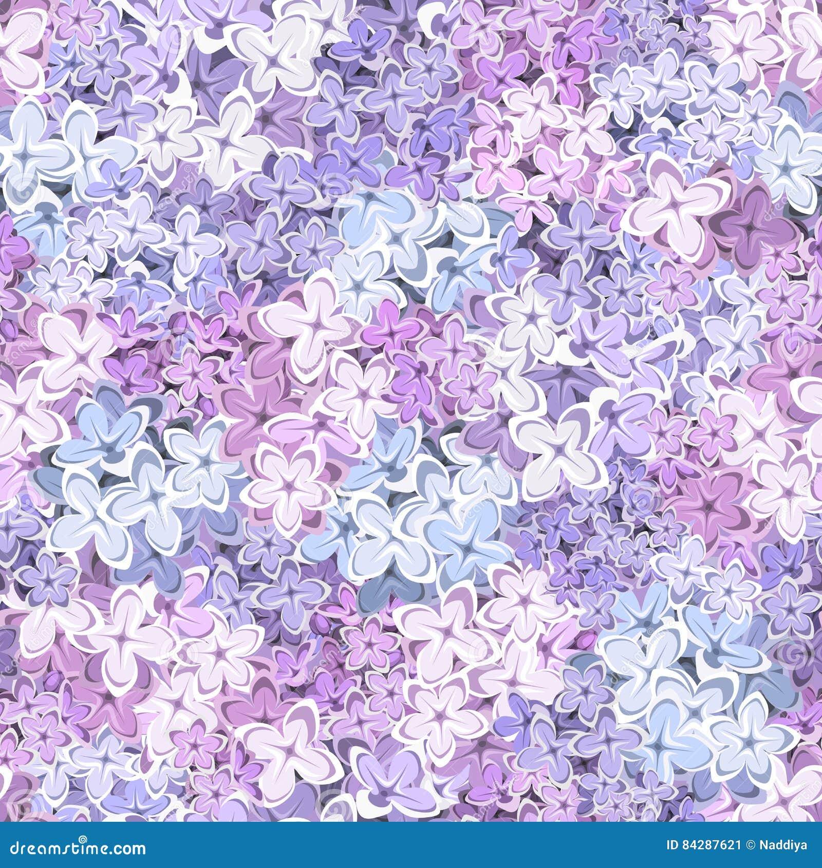 Fondo inconsútil con las flores de la lila Ilustración del vector