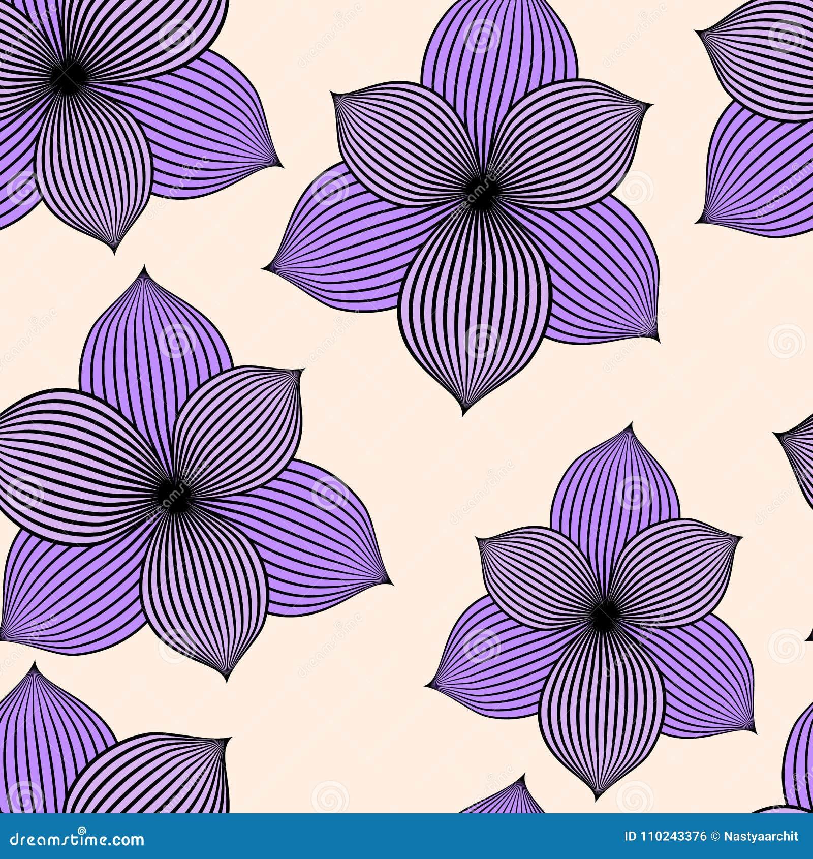 Fondo inconsútil con las flores violetas