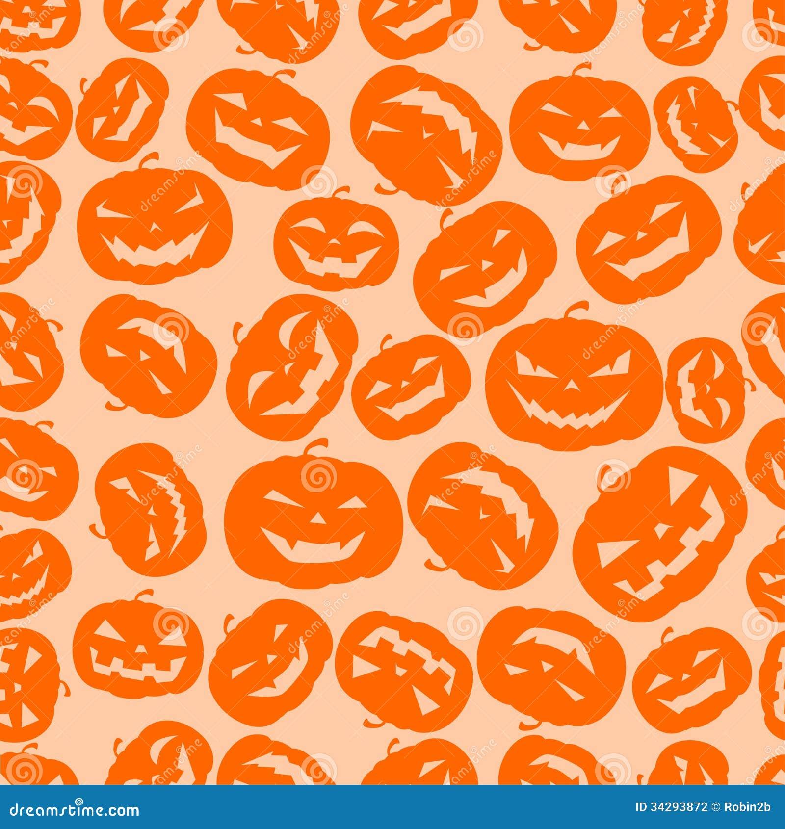 cute pumpkin pattern wallpaper