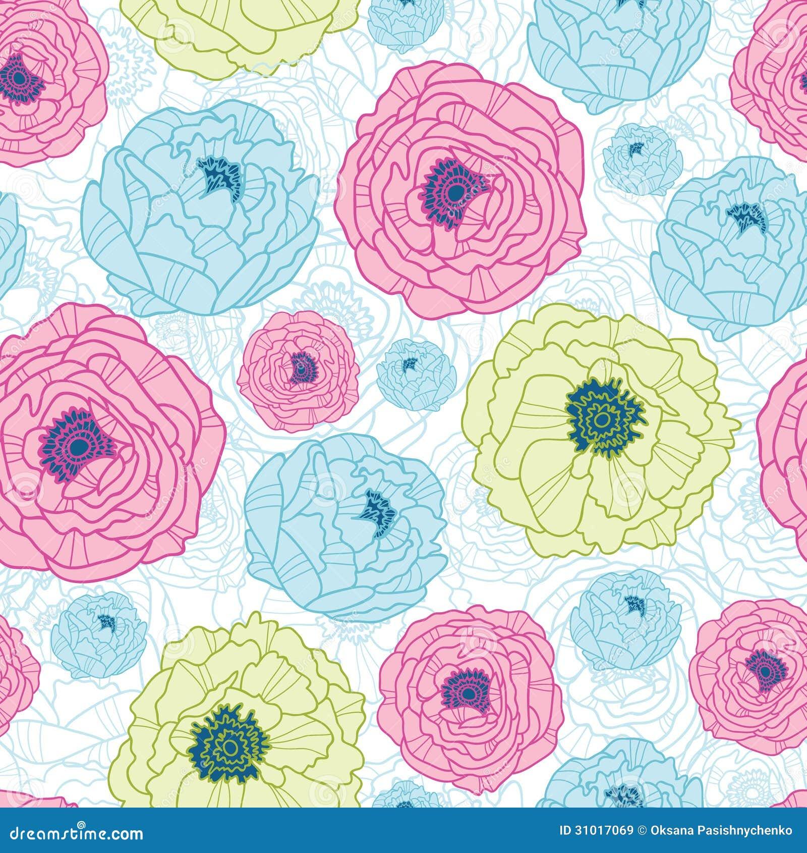 Fondo incons til del modelo de las flores preciosas ilustraci n del vector imagen 31017069 - Fotos flores preciosas ...