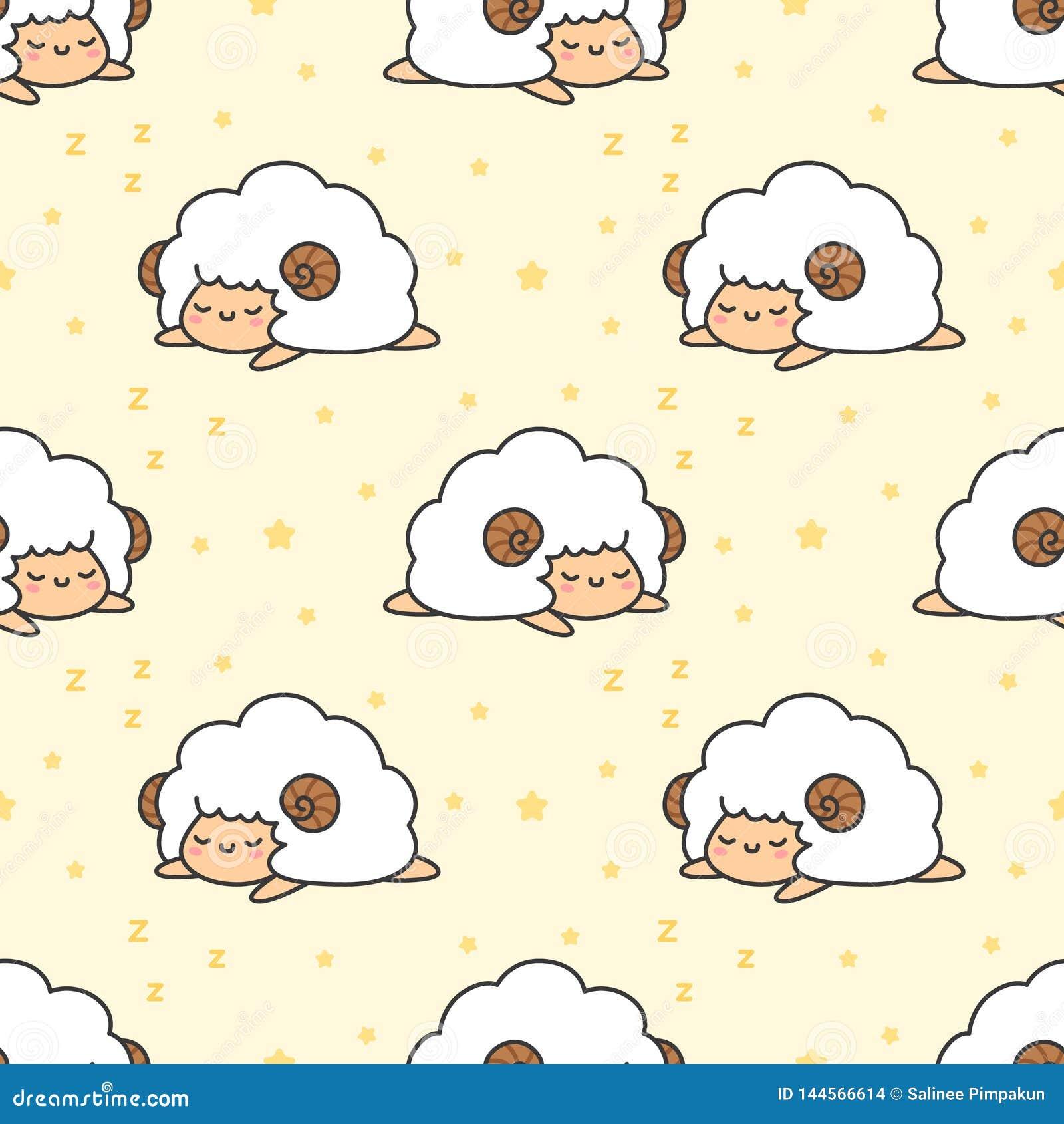 Fondo inconsútil del modelo de las ovejas el dormir