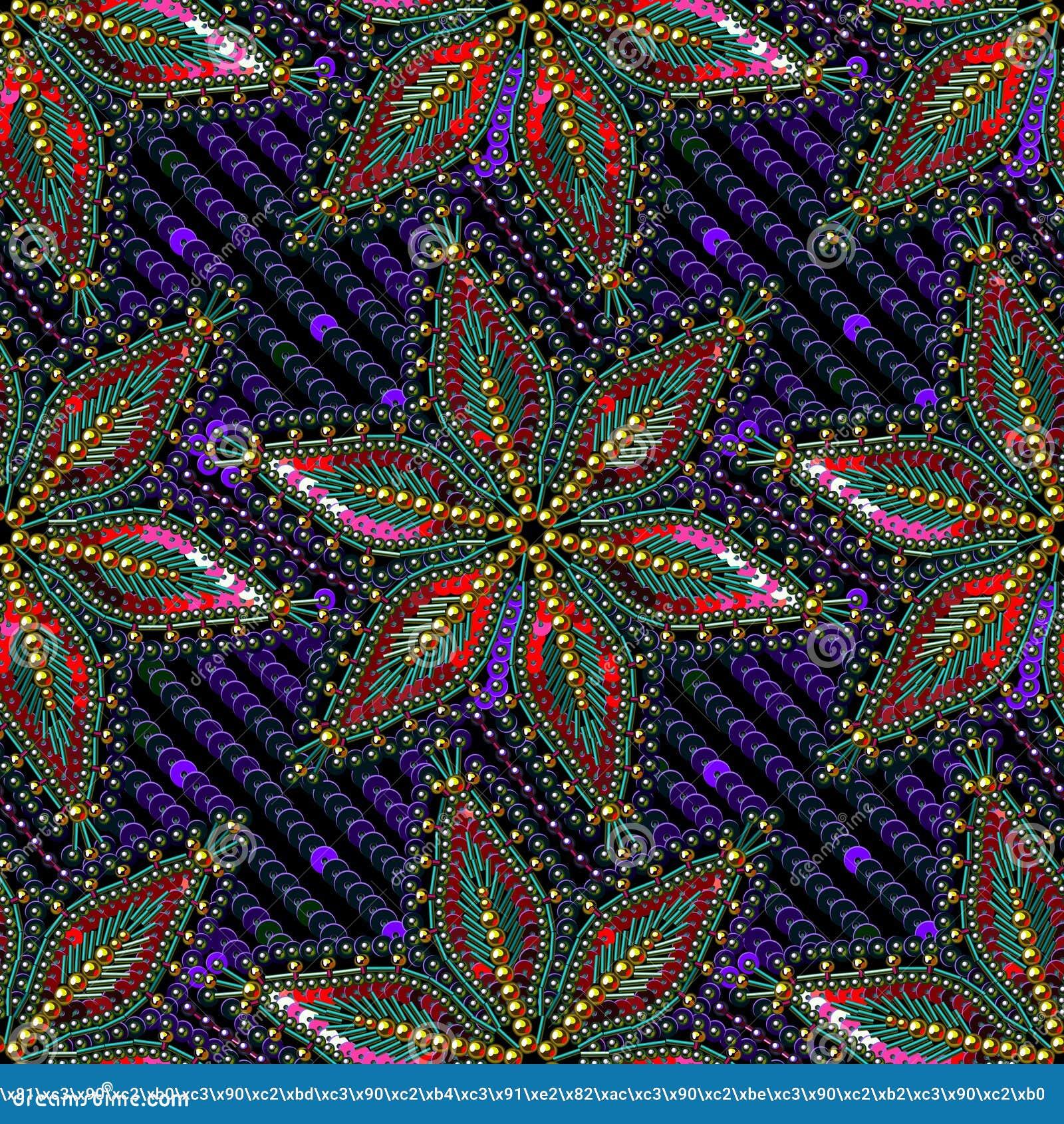 Fondo inconsútil del modelo del vector de las gotas multicoloras de las lentejuelas