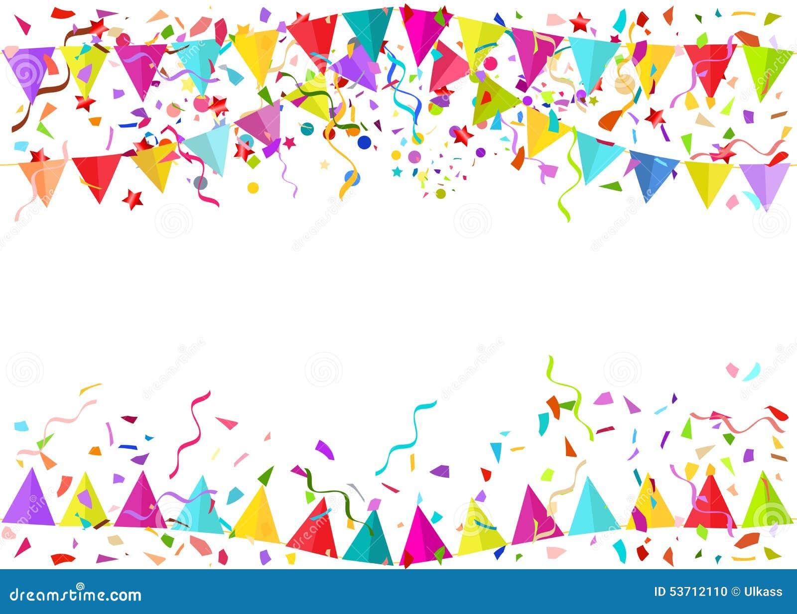 Fondo De Fiesta Diseño Decoracion Confeti Arte Patrón: Fondo Inconsútil Del Vector De Los Pedazos Y Del Colore