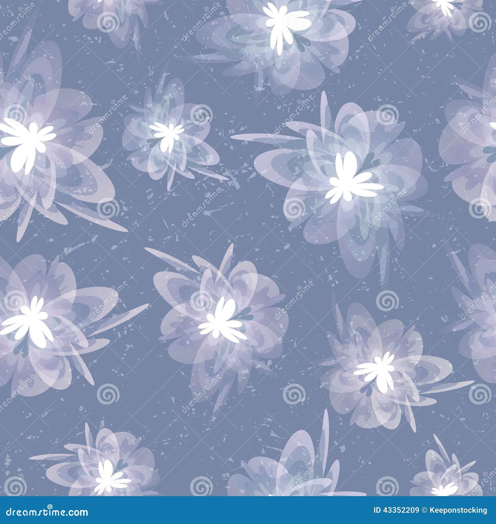 Fondo inconsútil gris floral borroso del vintage sucio