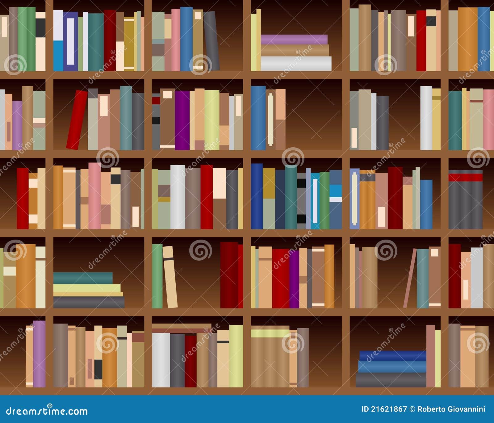 Fondo incons til del estante para libros fotograf a de - Estantes para pared ...
