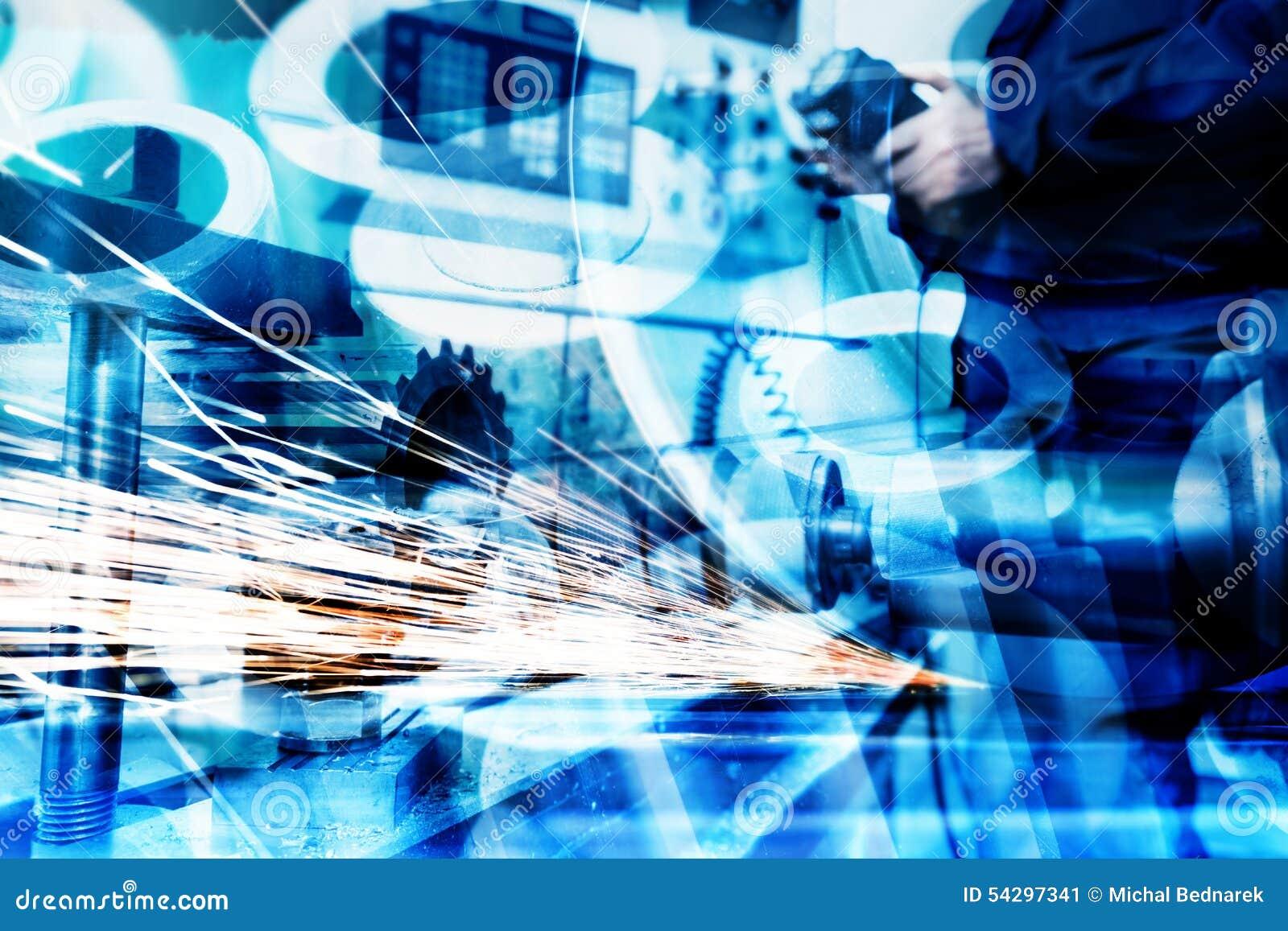 Fondo industrial del extracto de la tecnología Industria