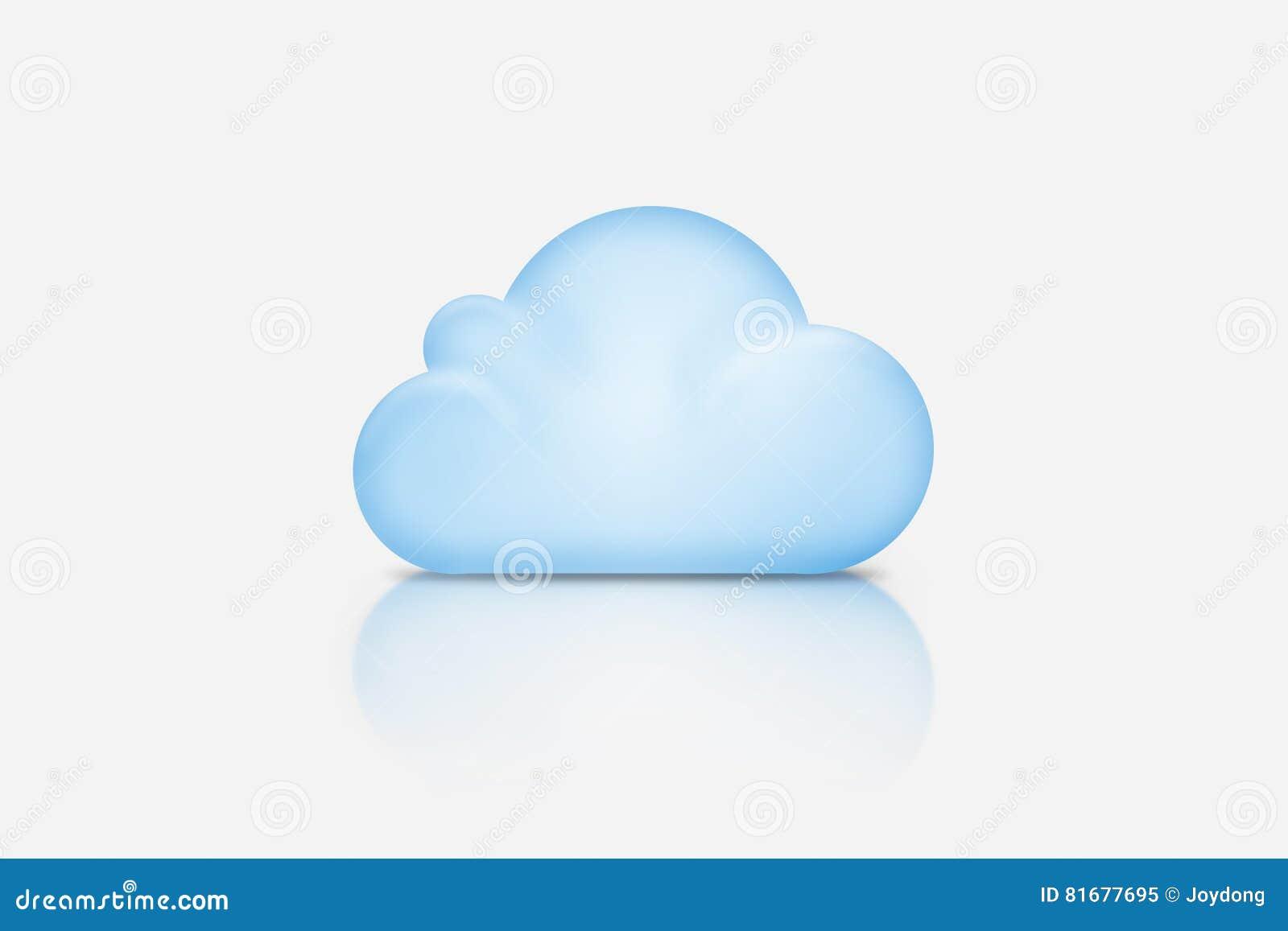 Fondo integrado por la nube azul sobre gris