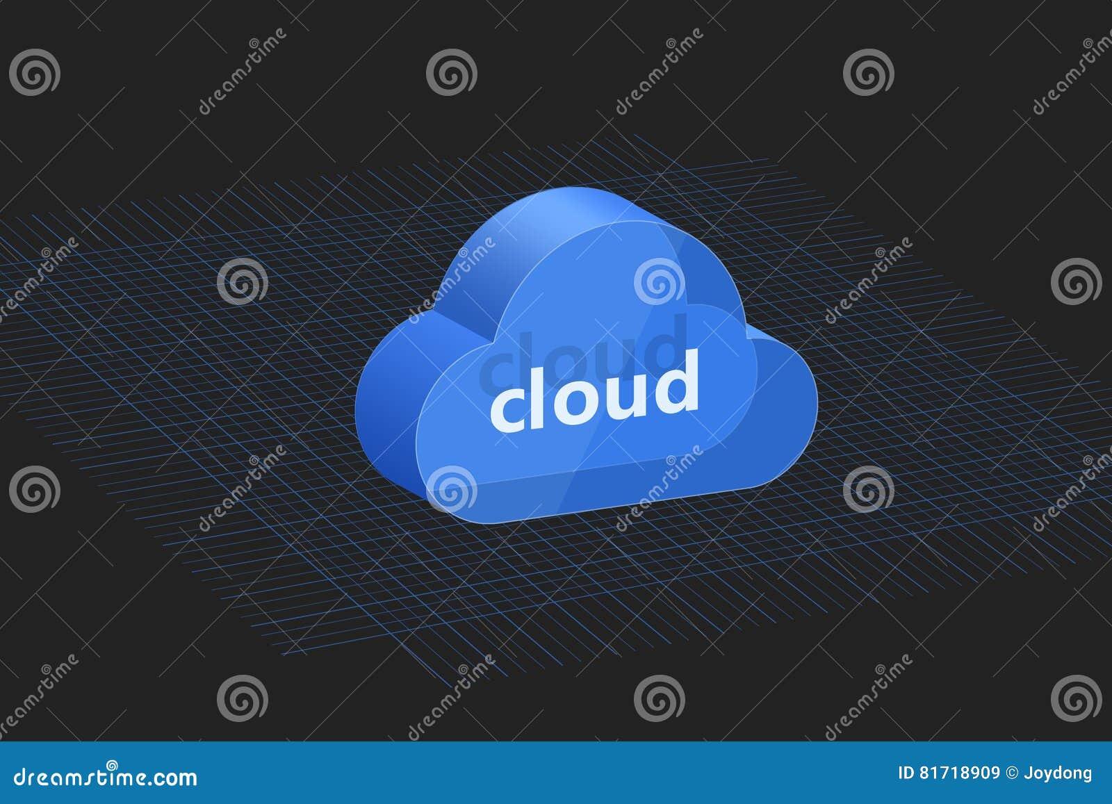 Fondo integrado por la nube azul tridimensional