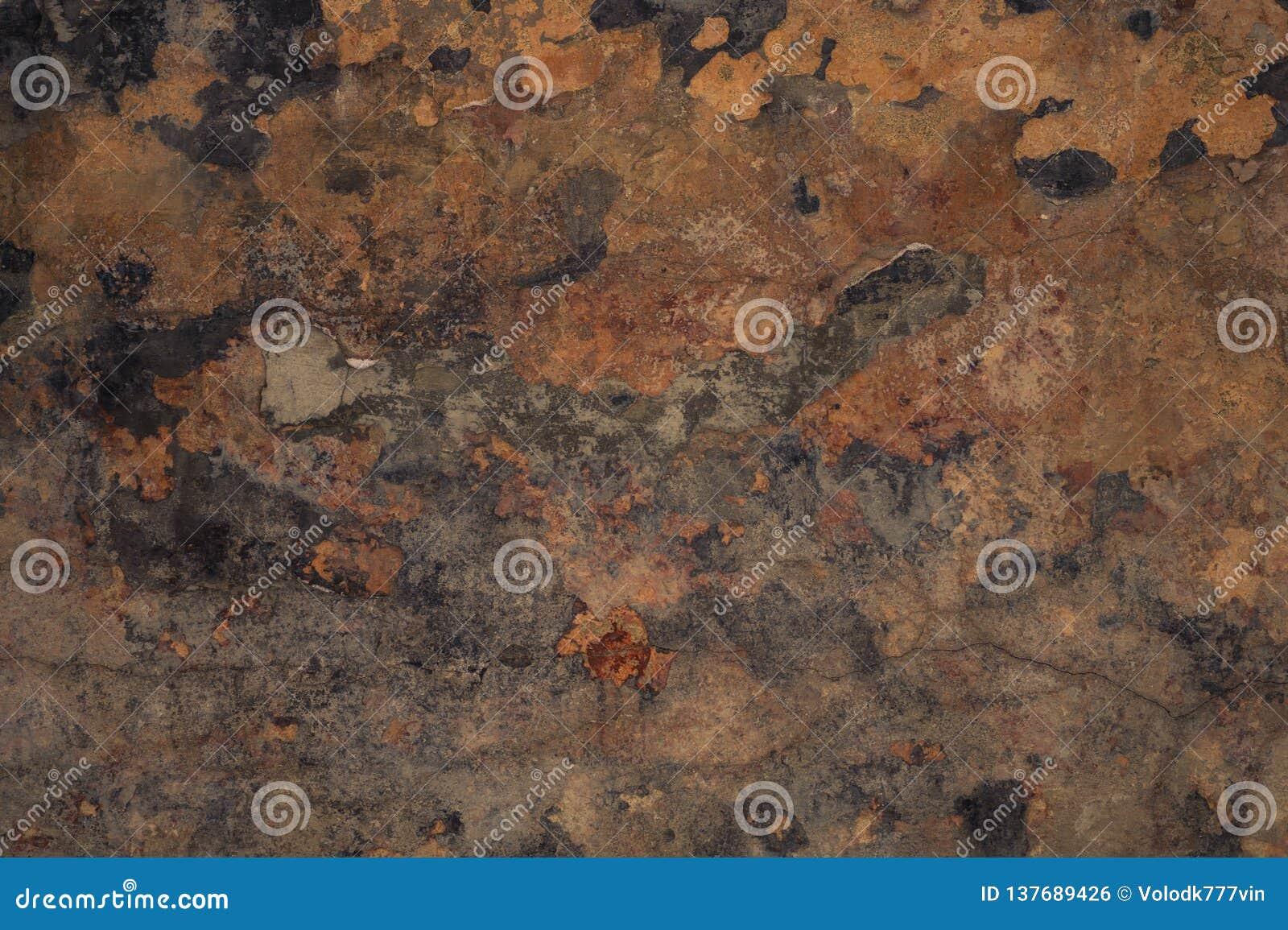 Fondo interesante pared marrón del fondo del grunge