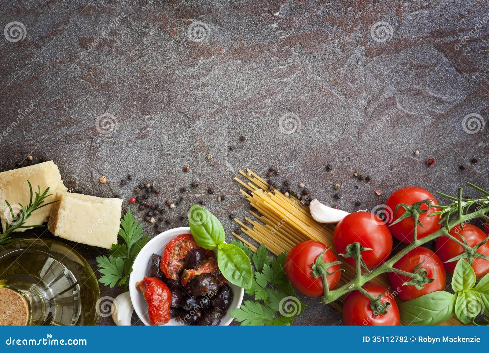 Fondo italiano de la comida