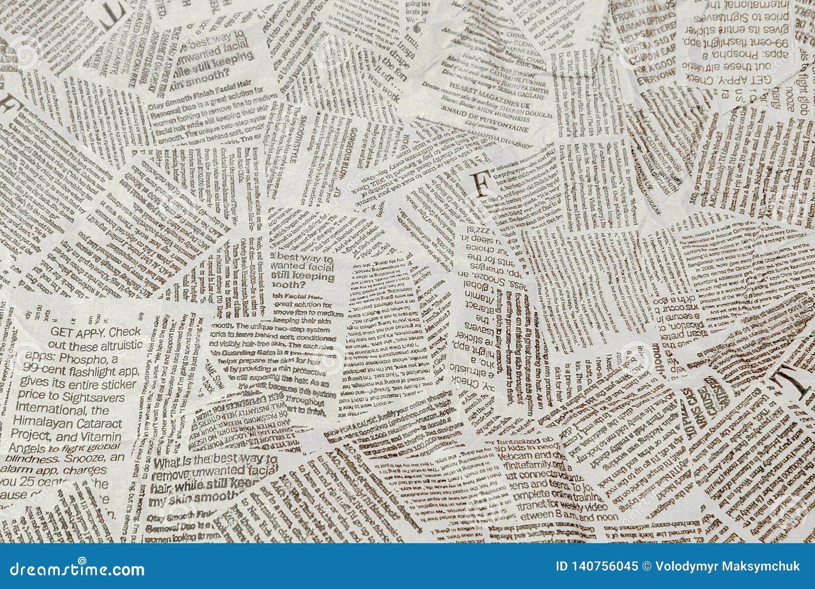 Fondo lacerato di ripetizione in bianco e nero del giornale Modello continuo lasciato, destra, su e giù