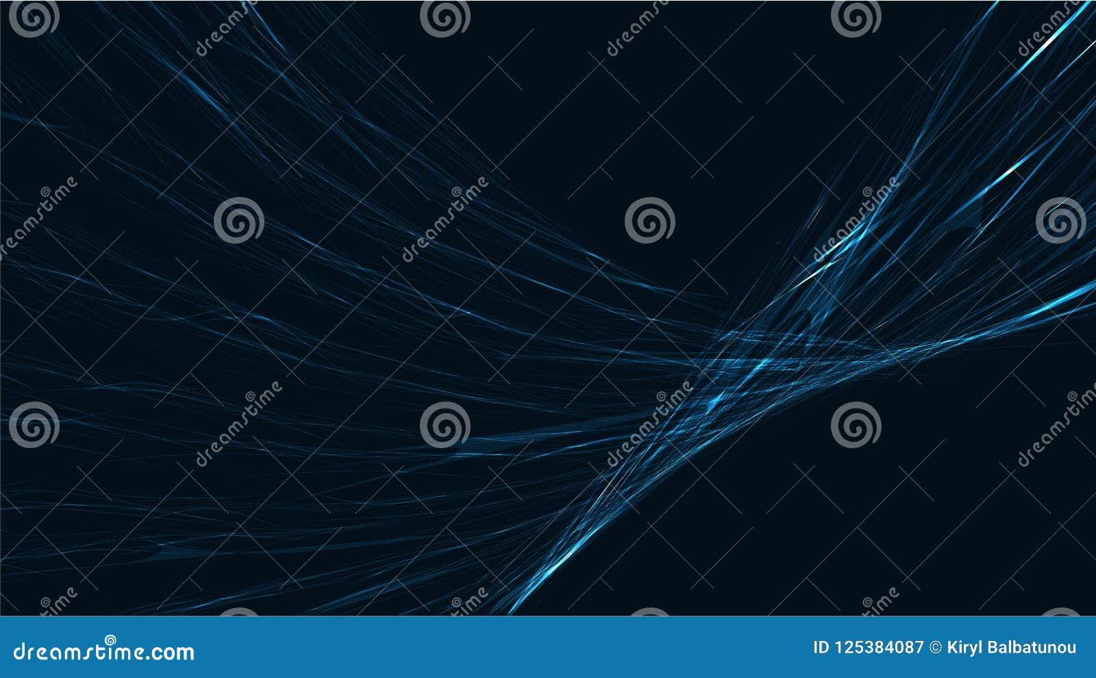 Fondo leggero d ardore luminoso elettrico di struttura di energia cosmica magica alta tecnologia digitale astratta blu delle stri