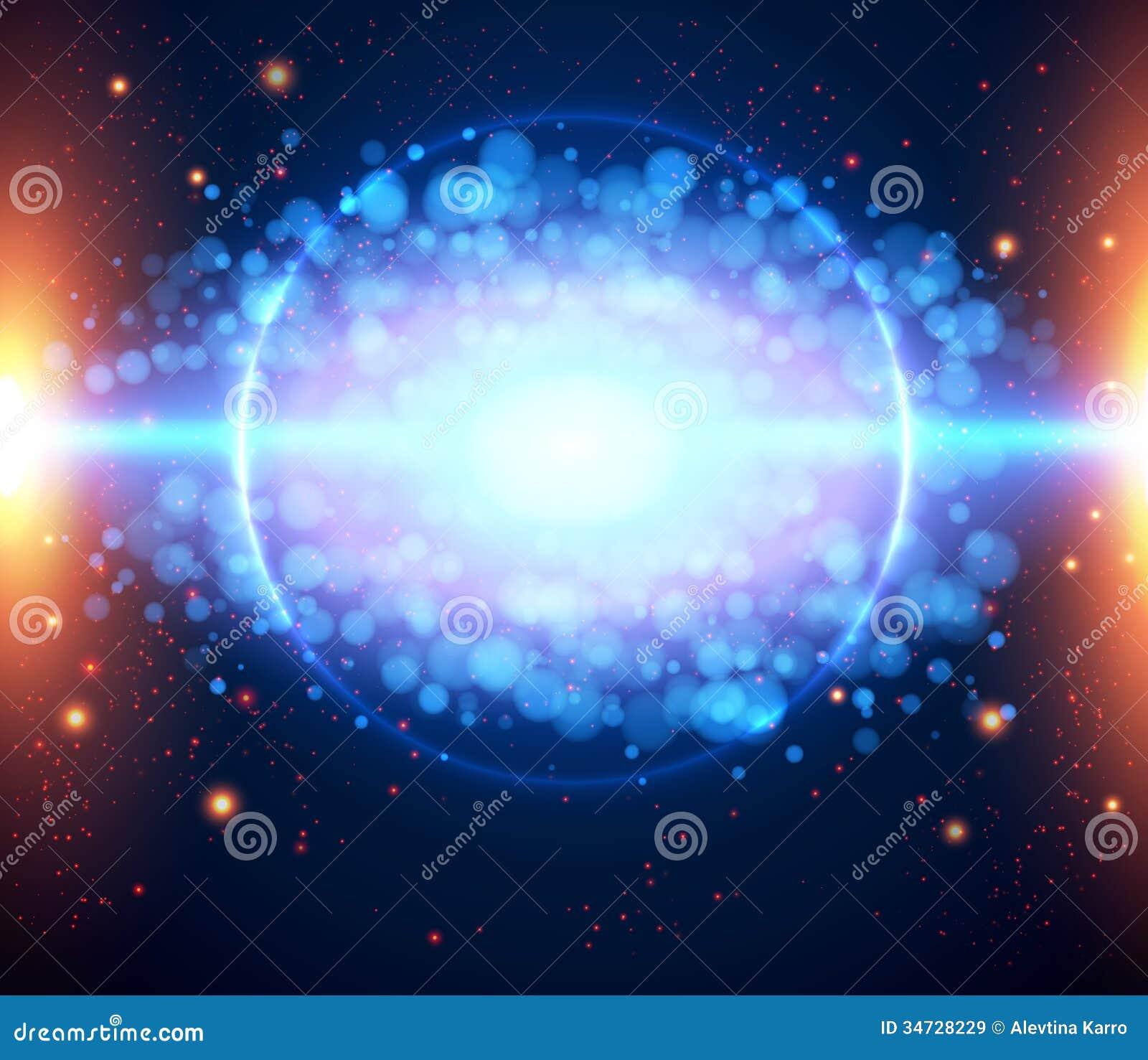 Fondo ligero cósmico abstracto EPS 10.
