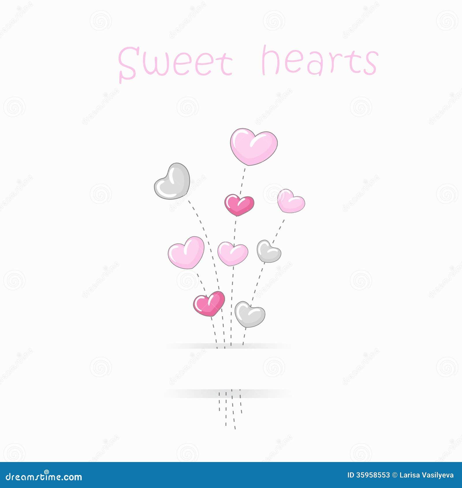 Fondo lindo de los corazones