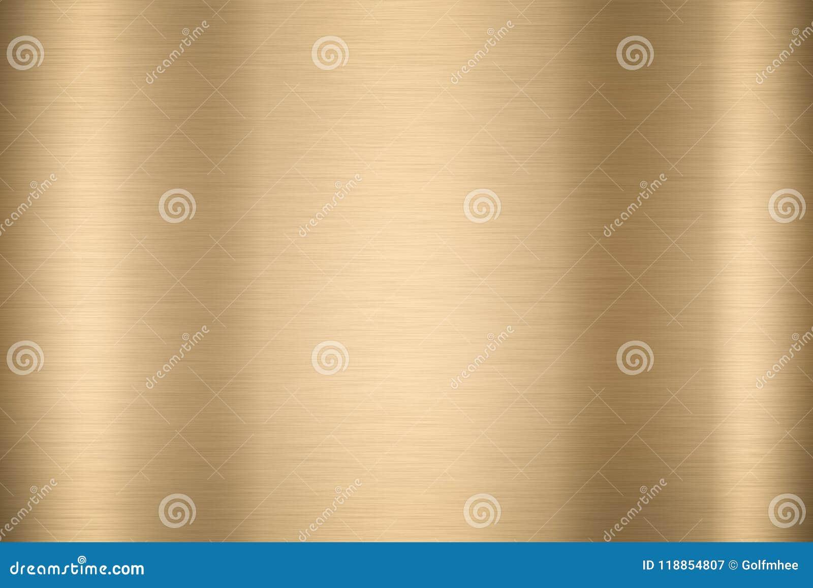 Fondo liso brillante abstracto VI brillante del color oro del metal de la hoja