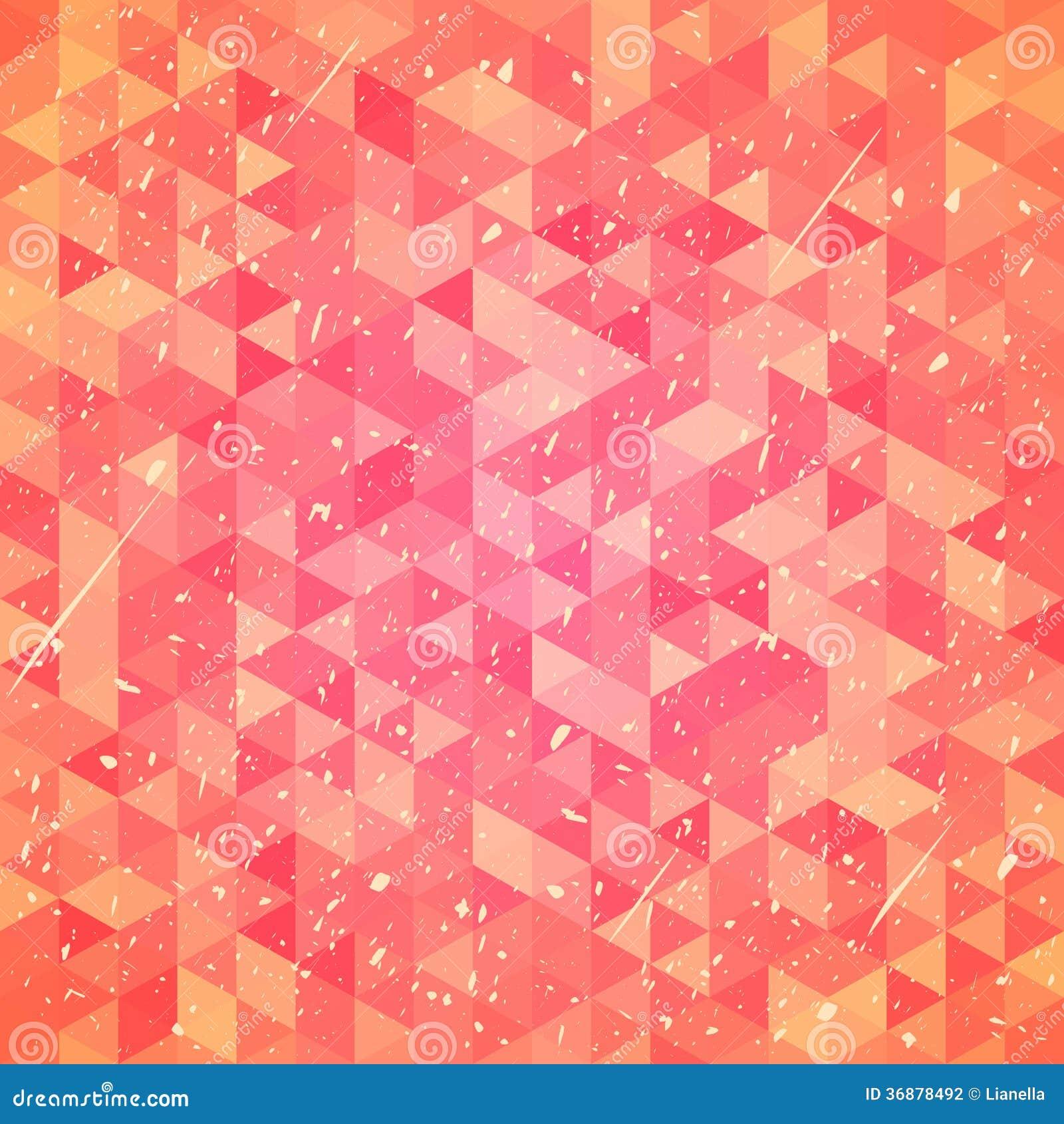 Download Fondo liso con i triangoli illustrazione vettoriale. Illustrazione di decorativo - 36878492