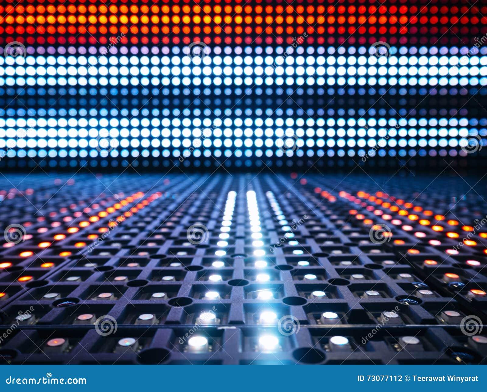 Fondo llevado del modelo del extracto de la tecnología digital de las luces