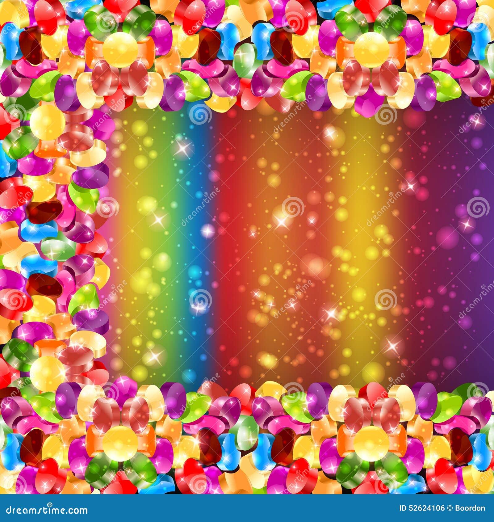 Fondo lucido dell arcobaleno di colore della caramella