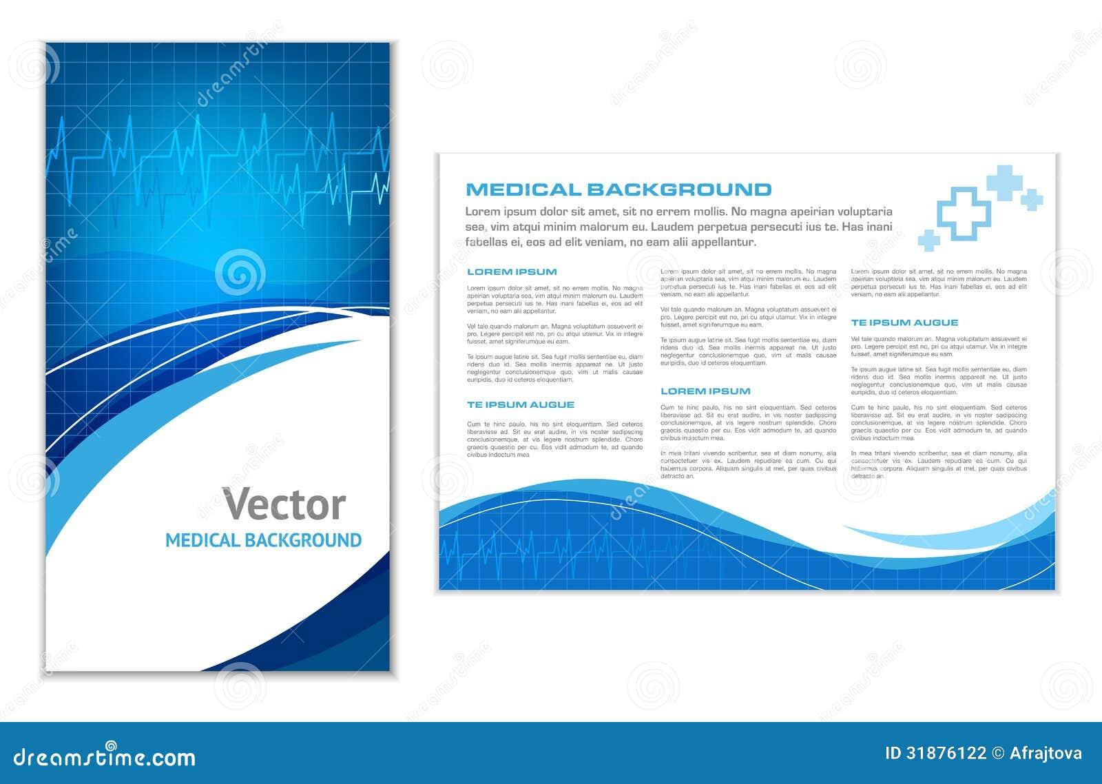 Fondo médico abstracto azul