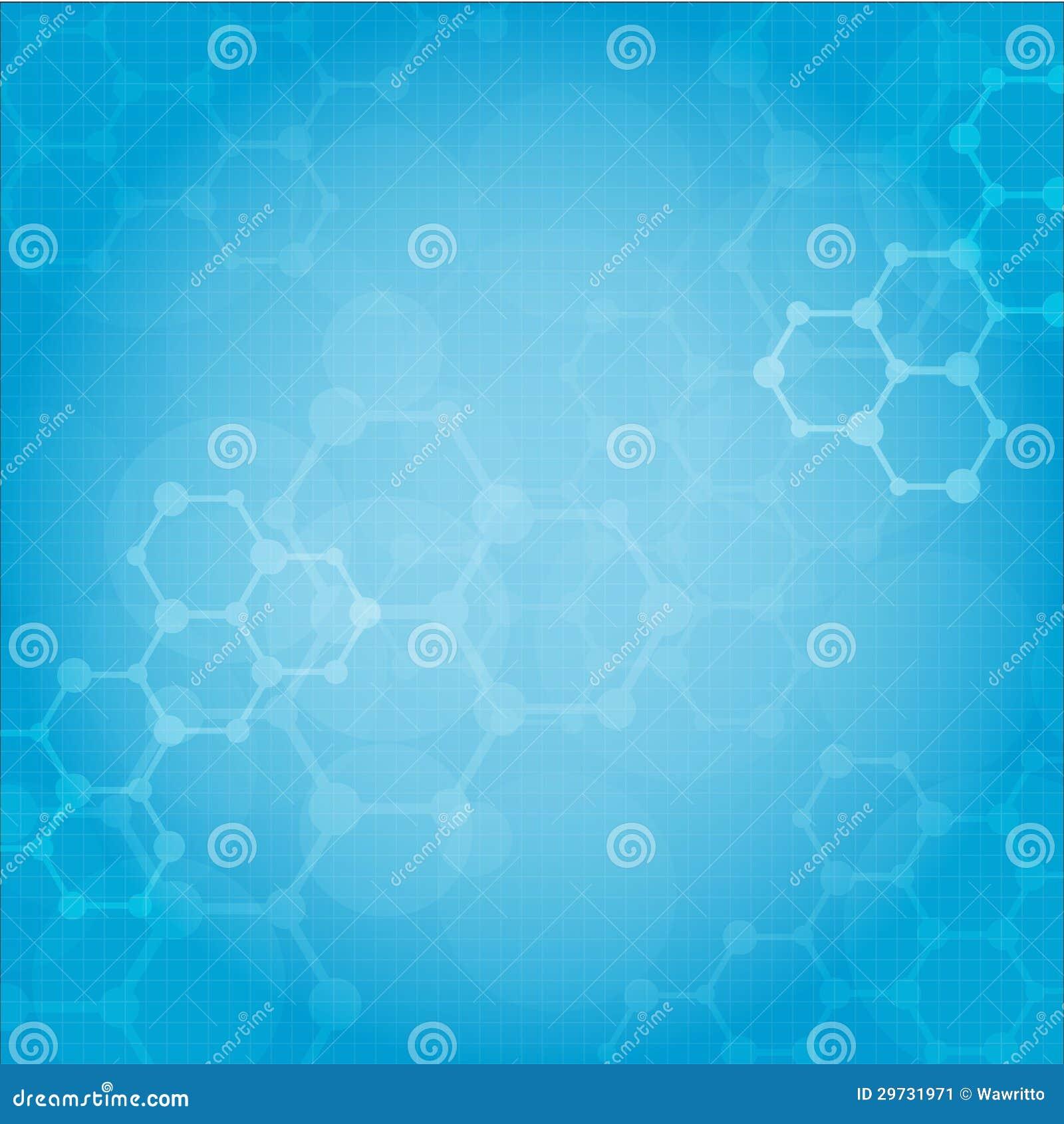 Fondo médico de las moléculas abstractas