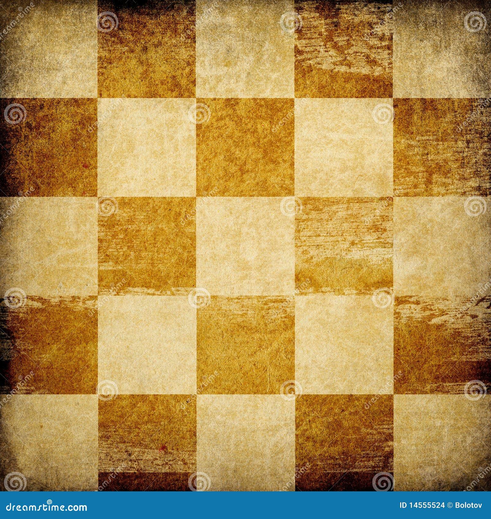 Fondo manchado tablero de ajedrez sucio.