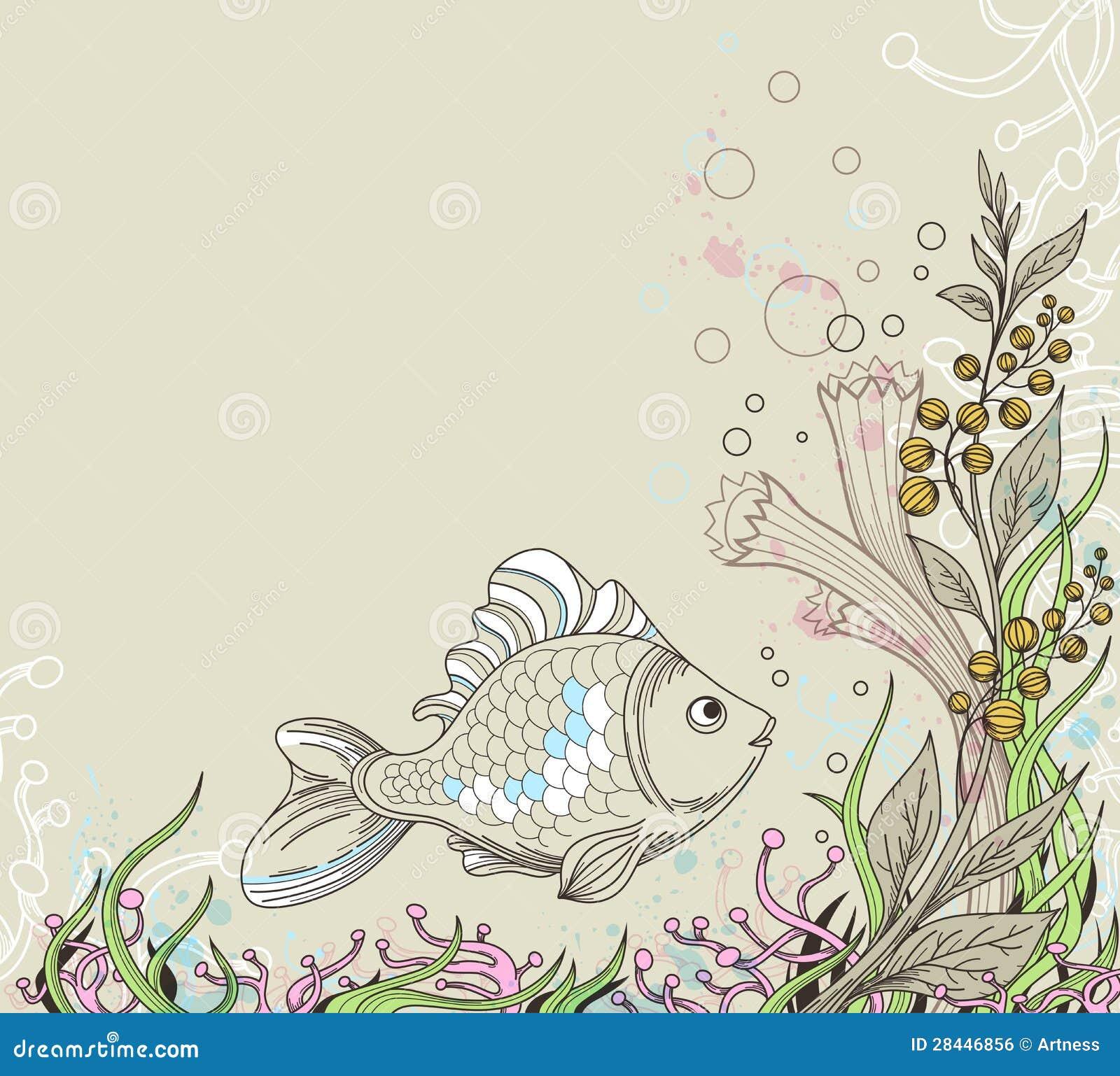Fondo marino illustrazione vettoriale immagine di for Disegno paesaggio marino