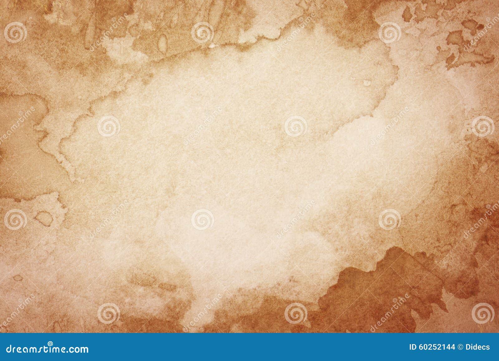 Fondo marrón artístico abstracto de la acuarela