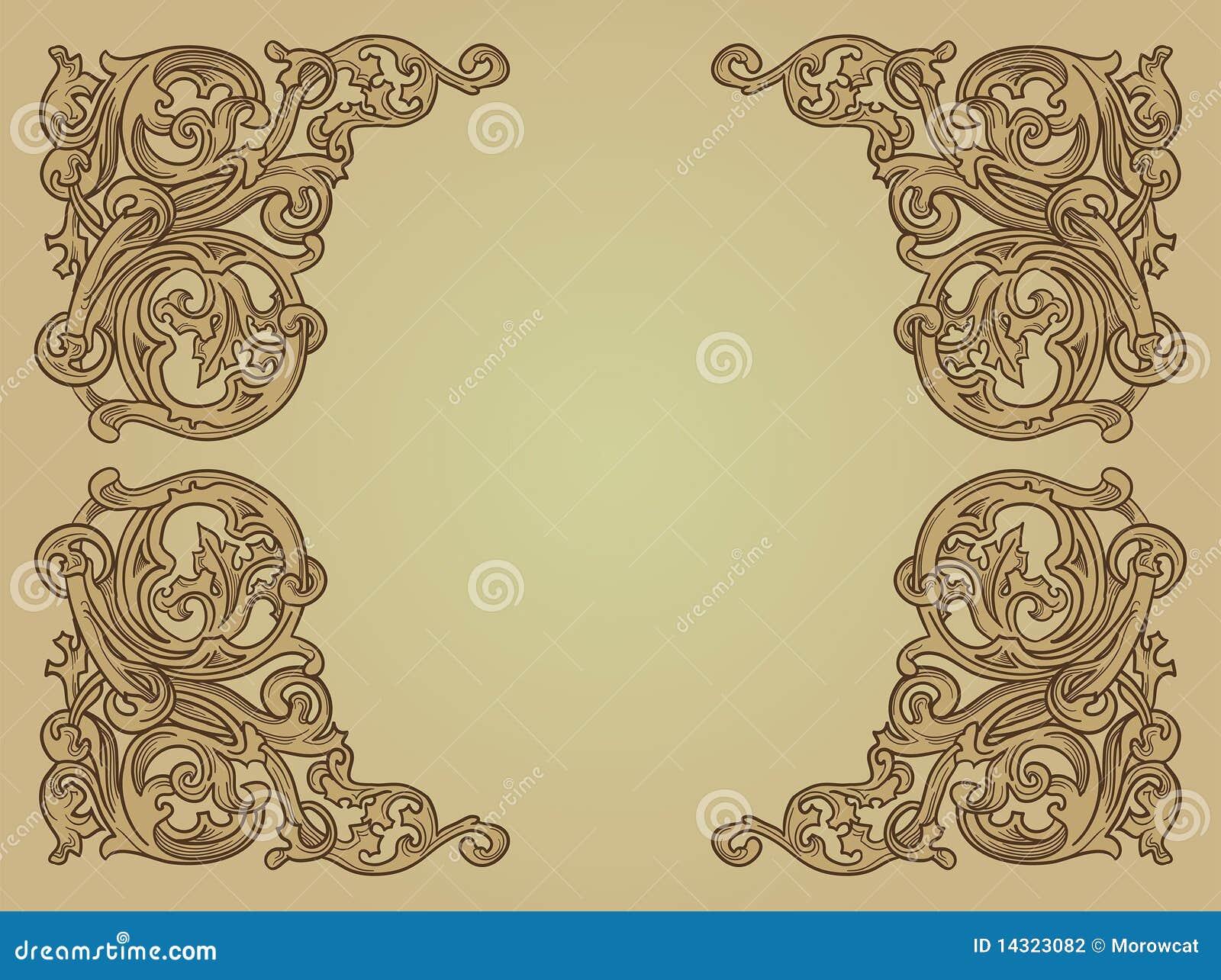 Fondo medieval ilustración del vector. Ilustración de ...