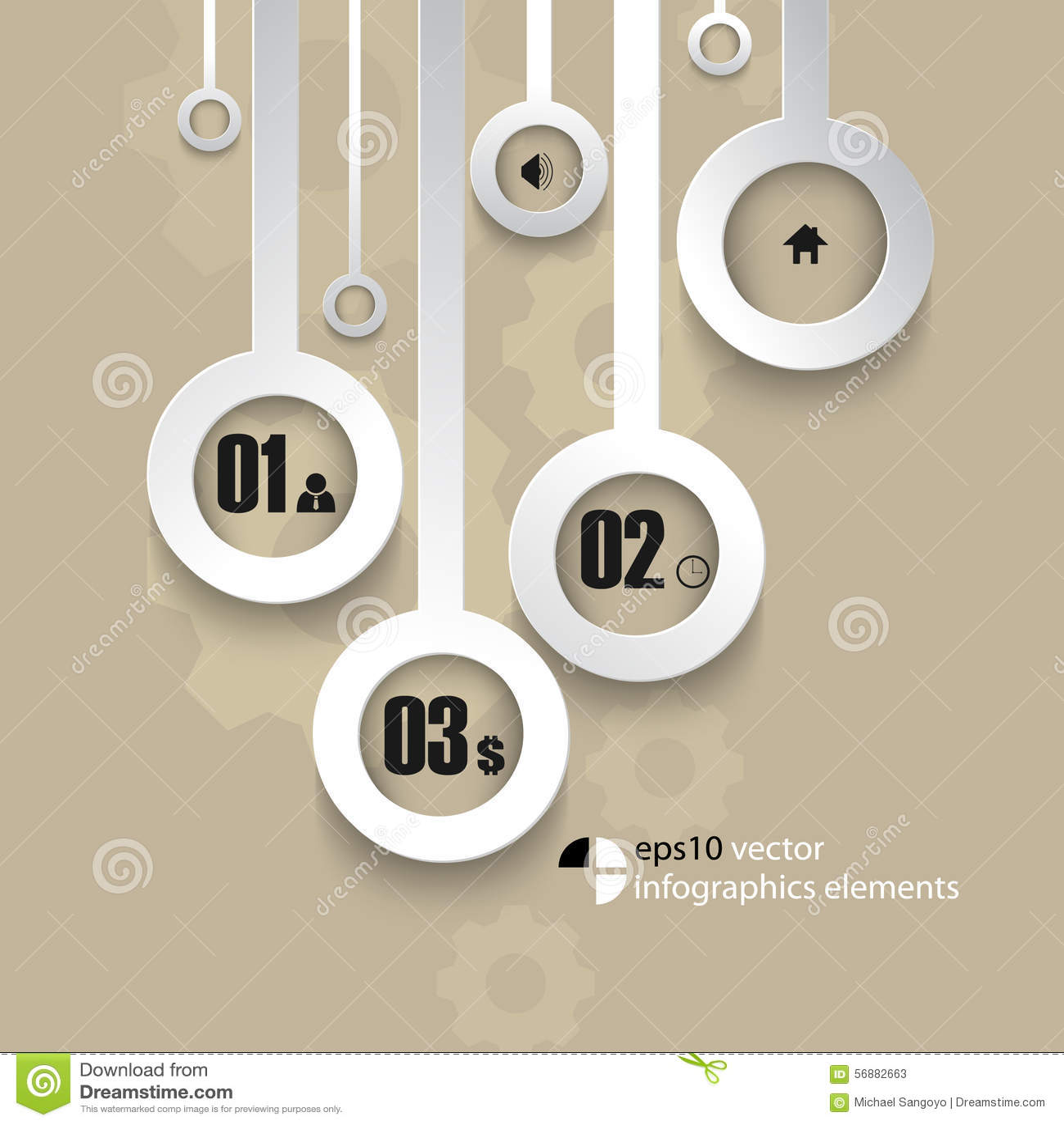 Fondo metallico di infographics di vettore