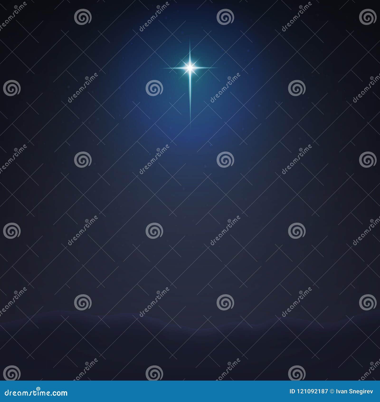 Fondo minimalistic di vettore dell illustrazione della stella di riserva di Betlemme La nascita di Jesus Christ ENV 10