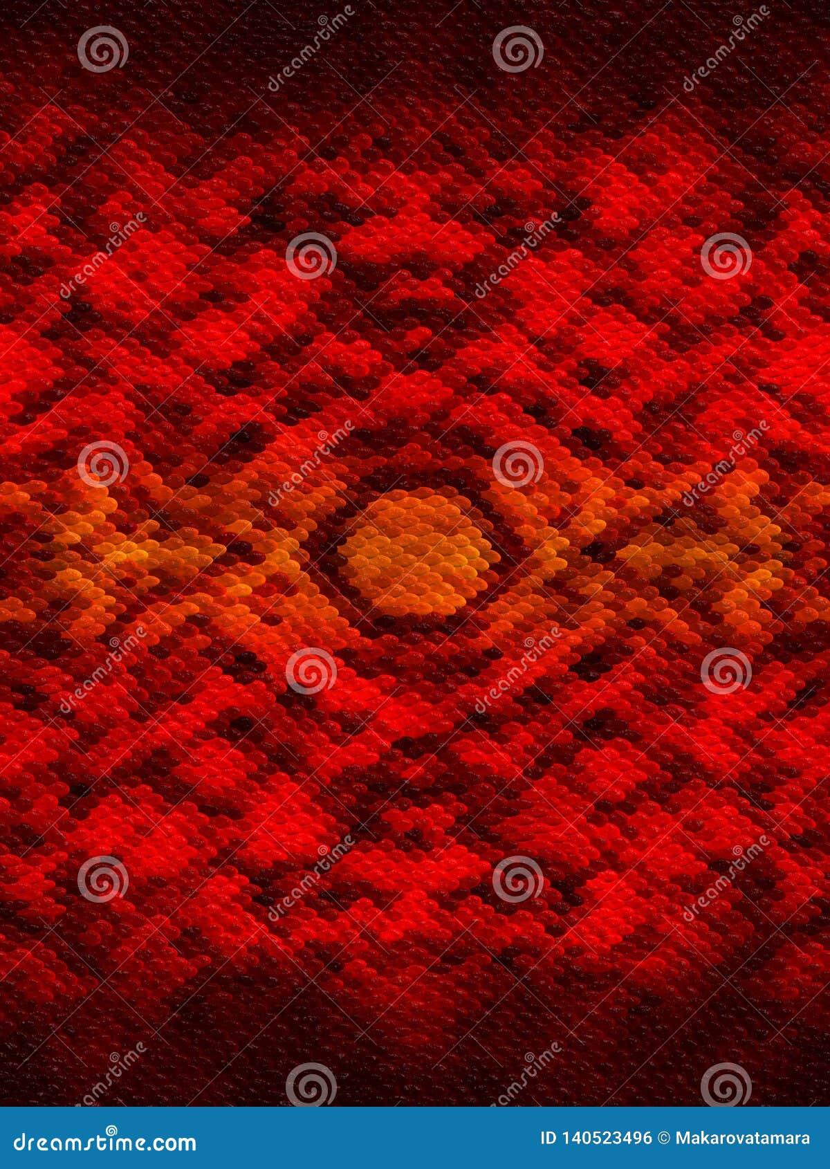 Fondo modellato rosso con effetto di pelle del serpente