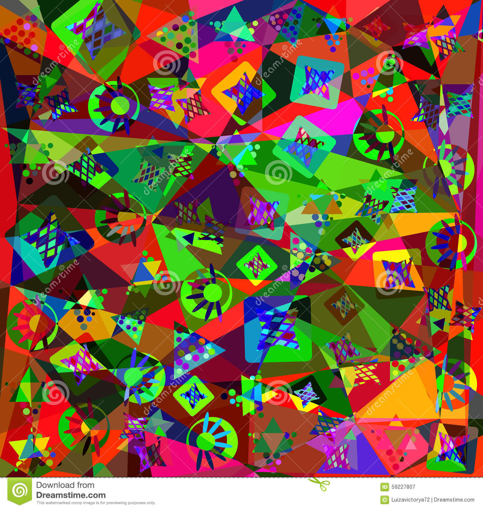 Fondo moderno abstracto colorido, ejemplo