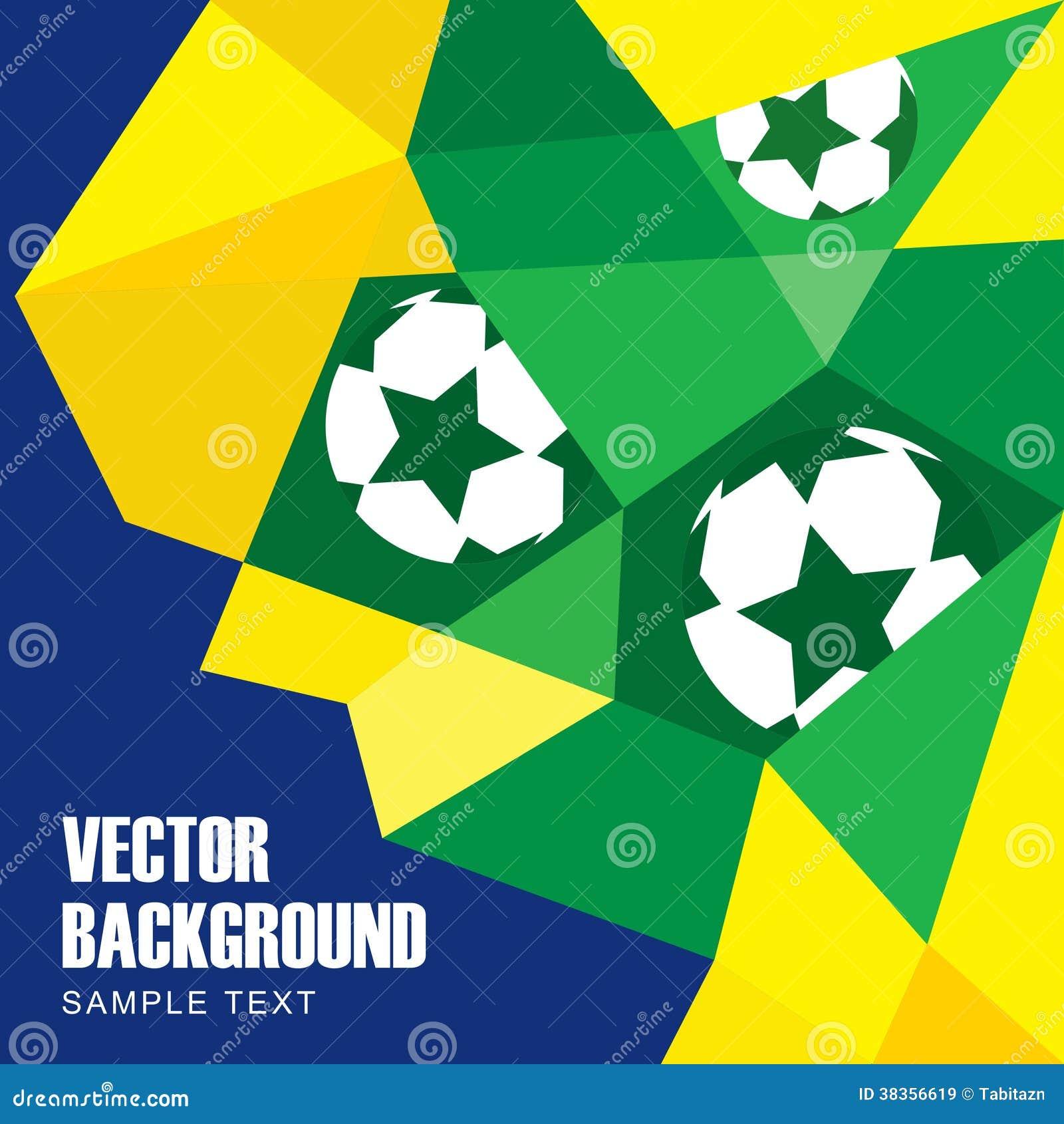 Fondo moderno abstracto del polígono en bandera brasileña