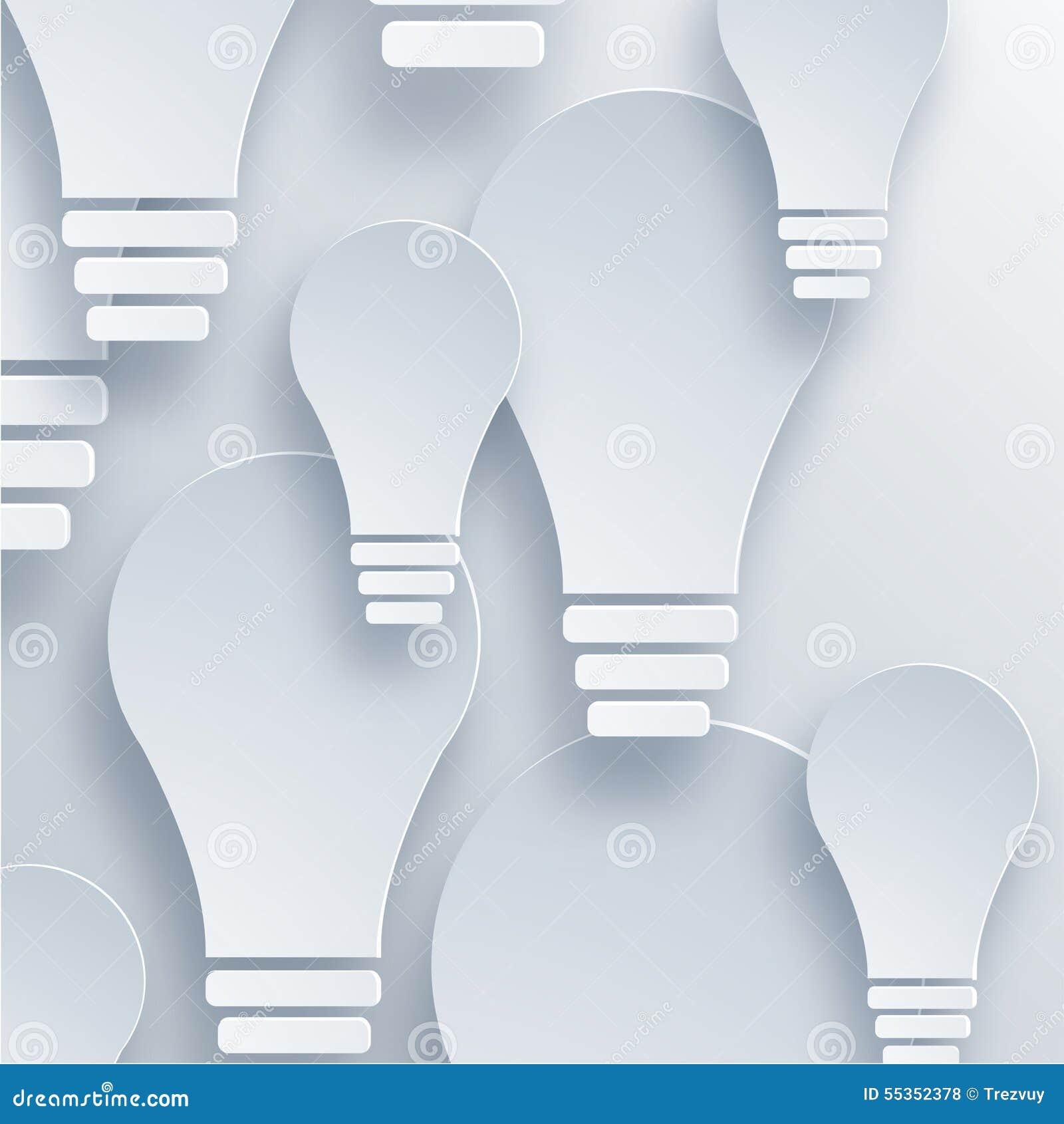 Fondo moderno della lampadina di vettore