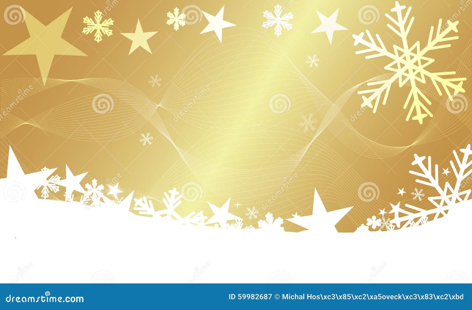 Eccezionale Fondo Moderno Di Inverno Di Natale Con Le Stelle E L'oro Dei  LH35