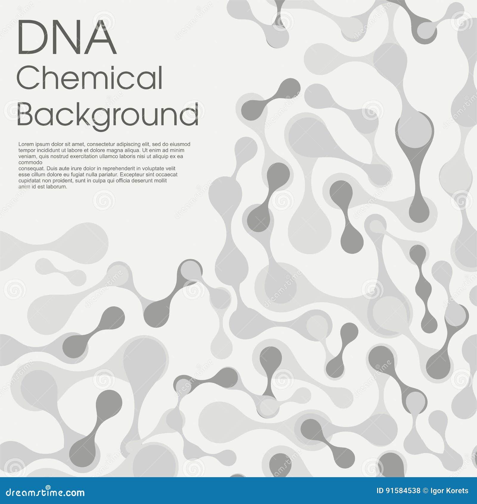 Fondo Molecular De La Estructura De Célula Contexto Químico