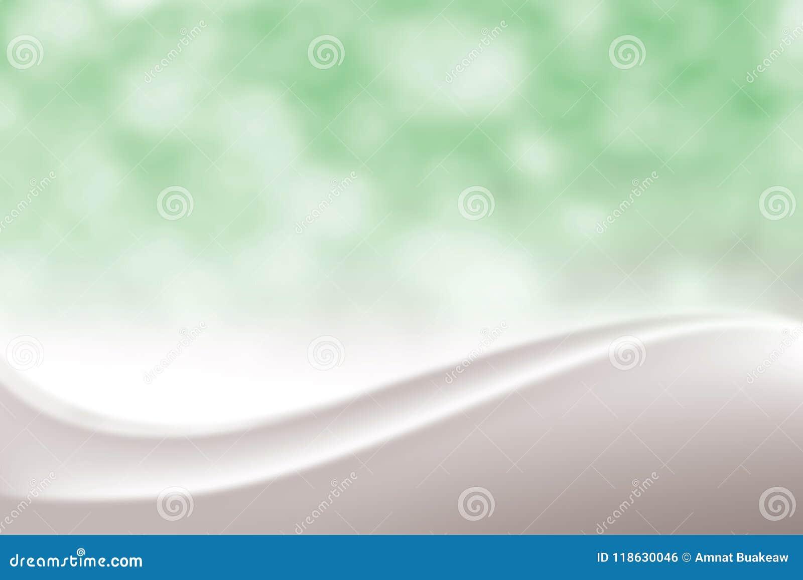 Fondo molle elegante verde regolare vago di bellezza, tonalità cosmetica lussuosa della luce morbida di Bokeh del contesto, dolce