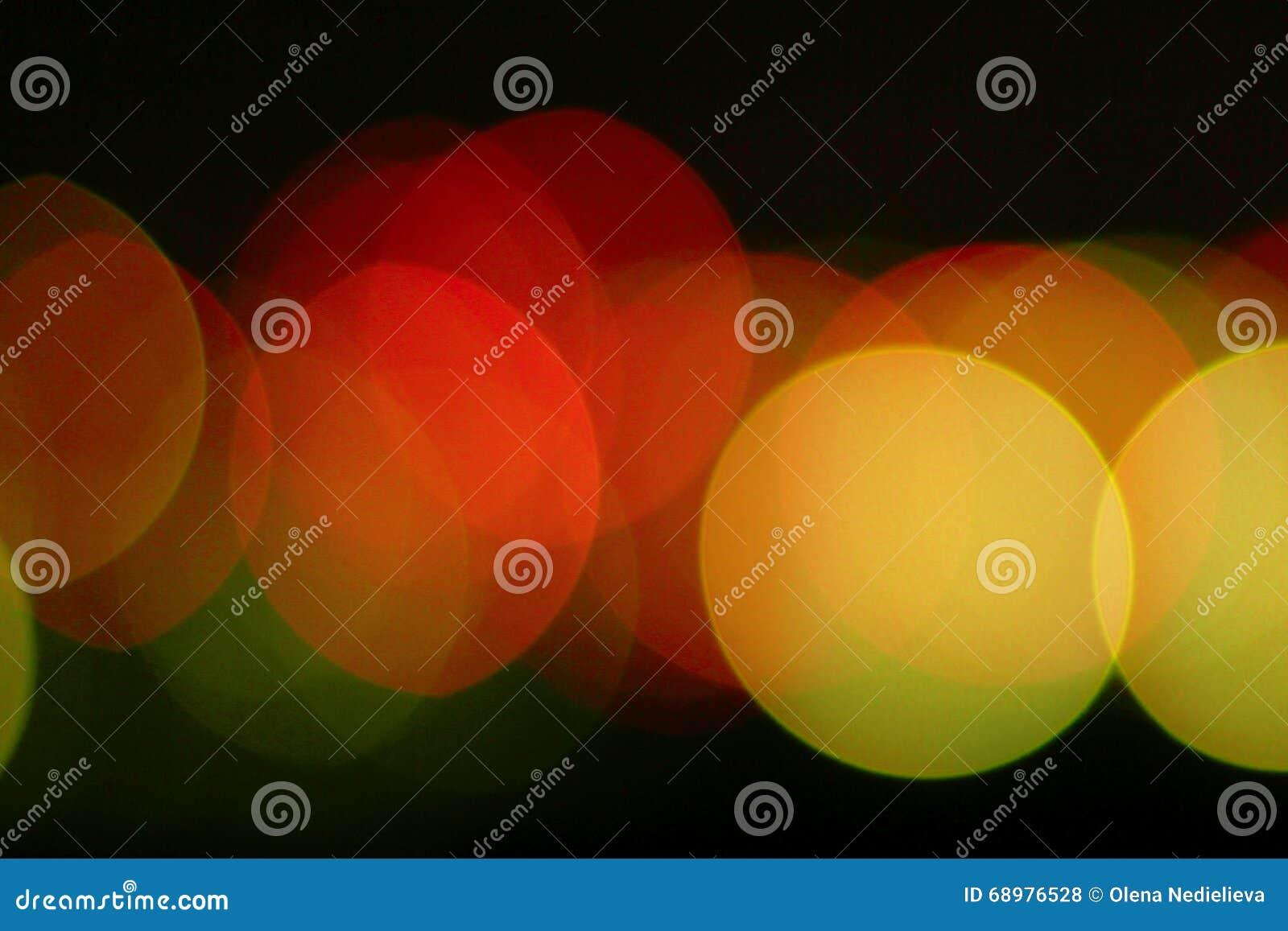 Fondo multicolor del primer de las luces de Bokeh