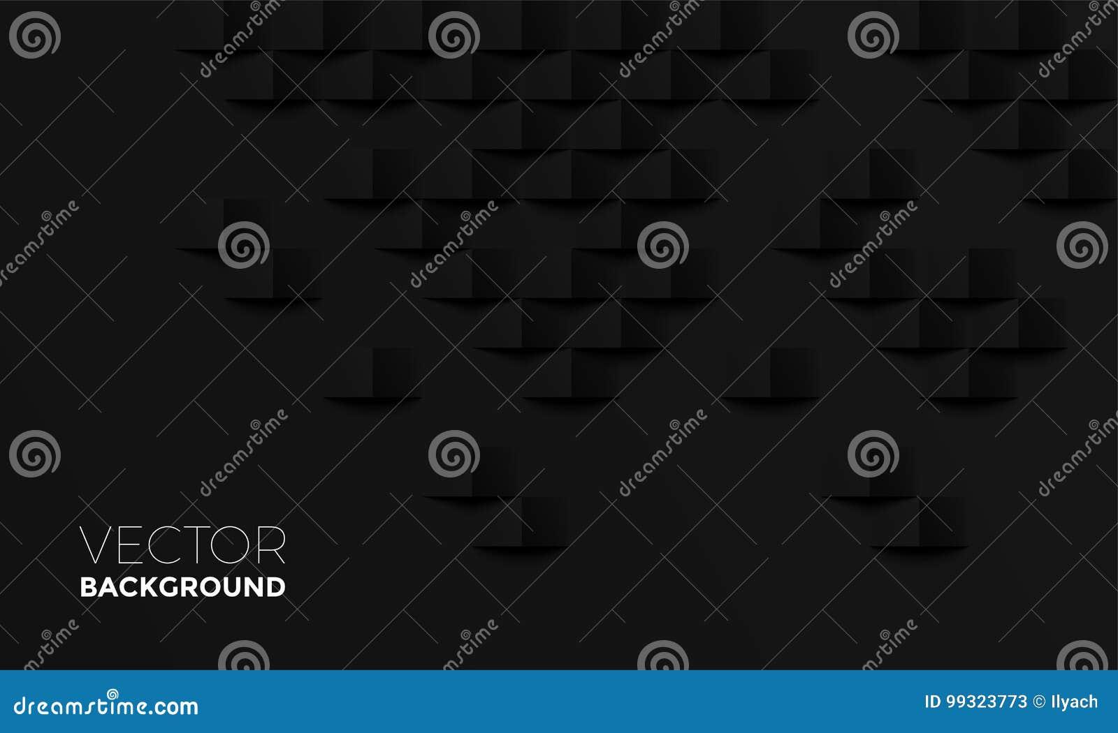 Fondo negro abstracto con diseño interior del contexto de la textura del vector de la sombra del ladrillo