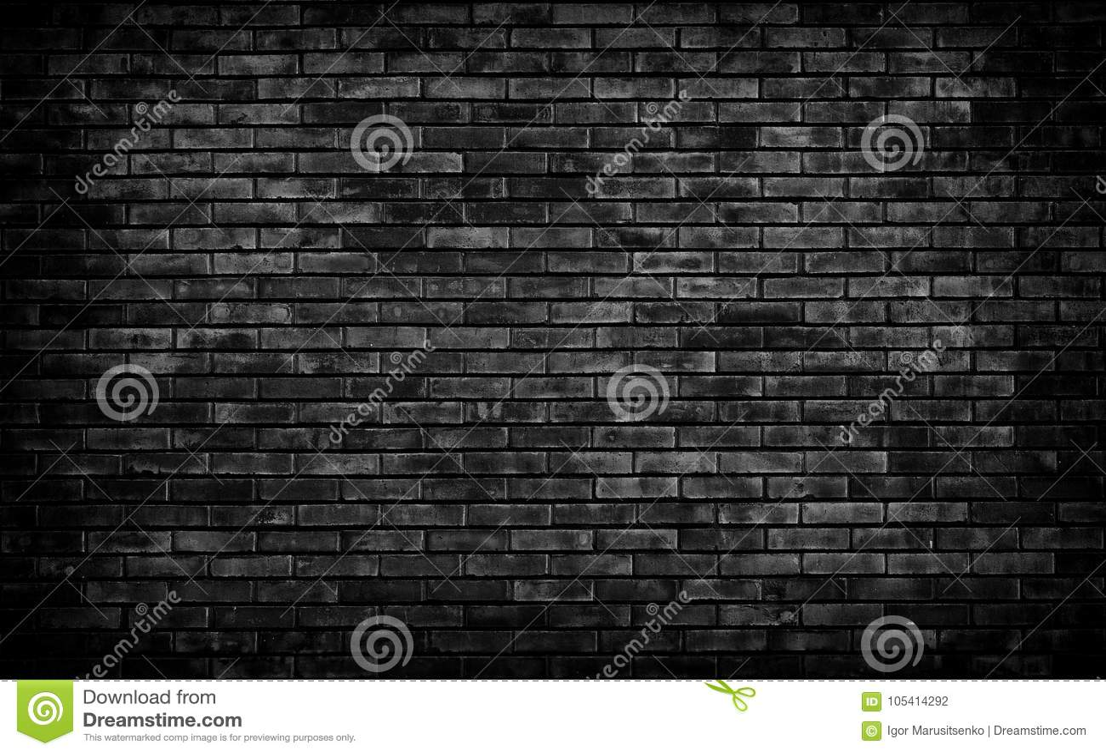 Fondo negro de la pared de ladrillo