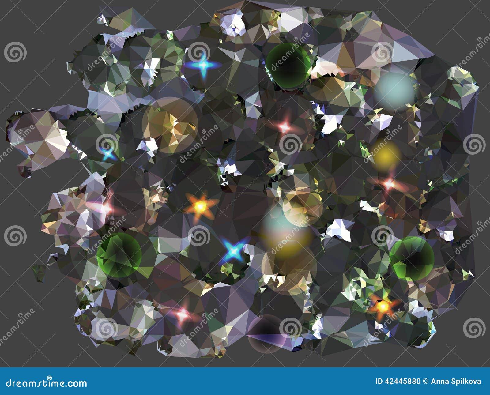 Fondo negro y gris abstracto evocador de diamantes