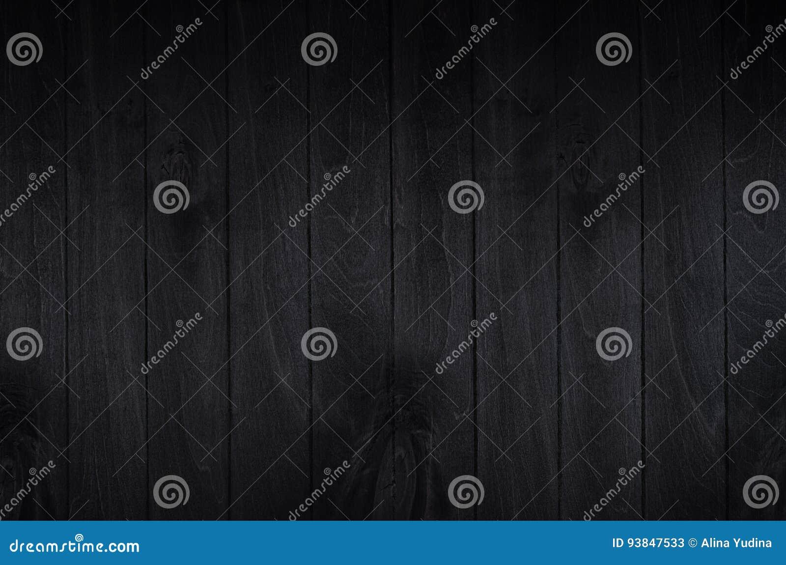 Fondo noir del bordo di legno del nero di eleganza Struttura di legno