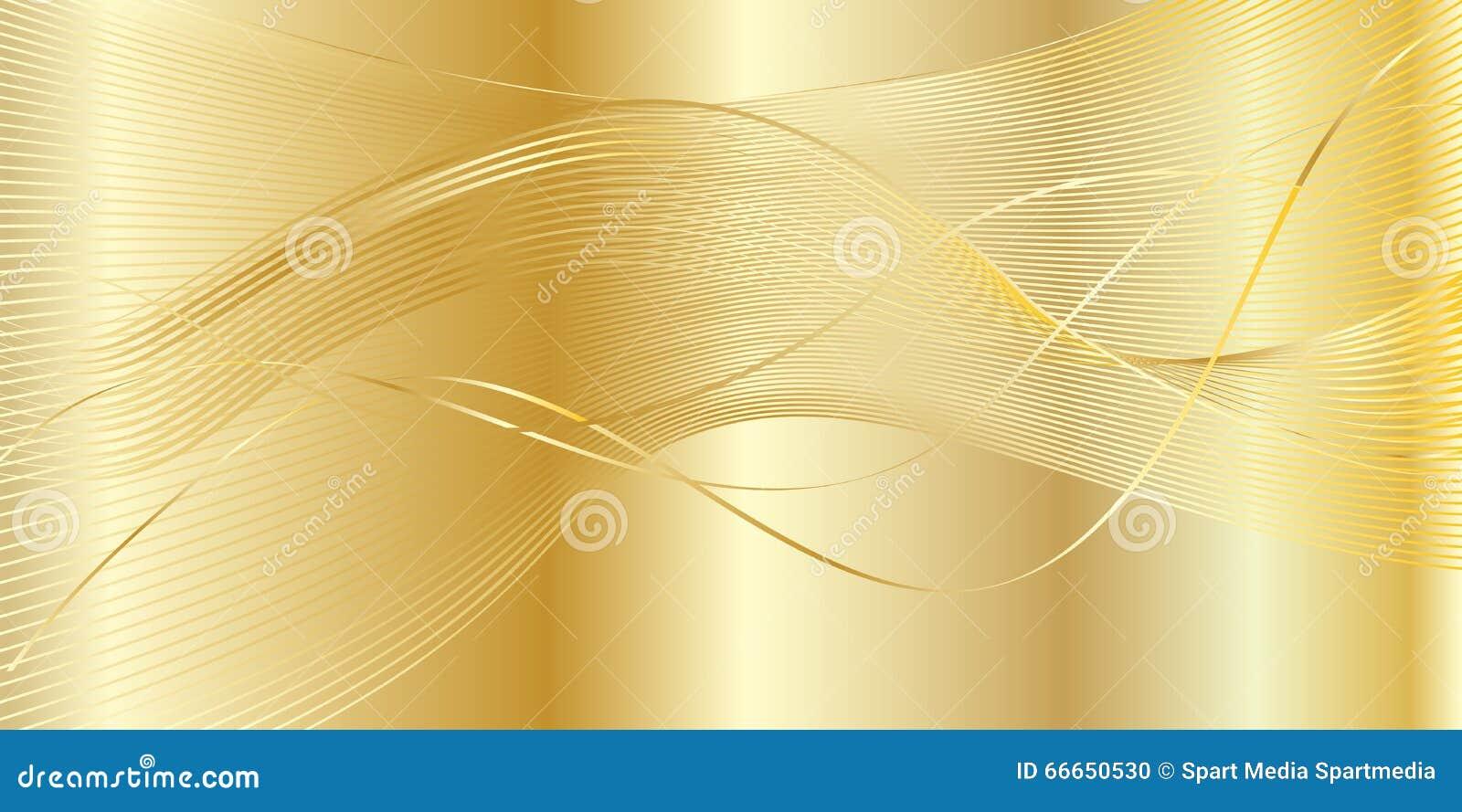 Fondo ondulado del oro