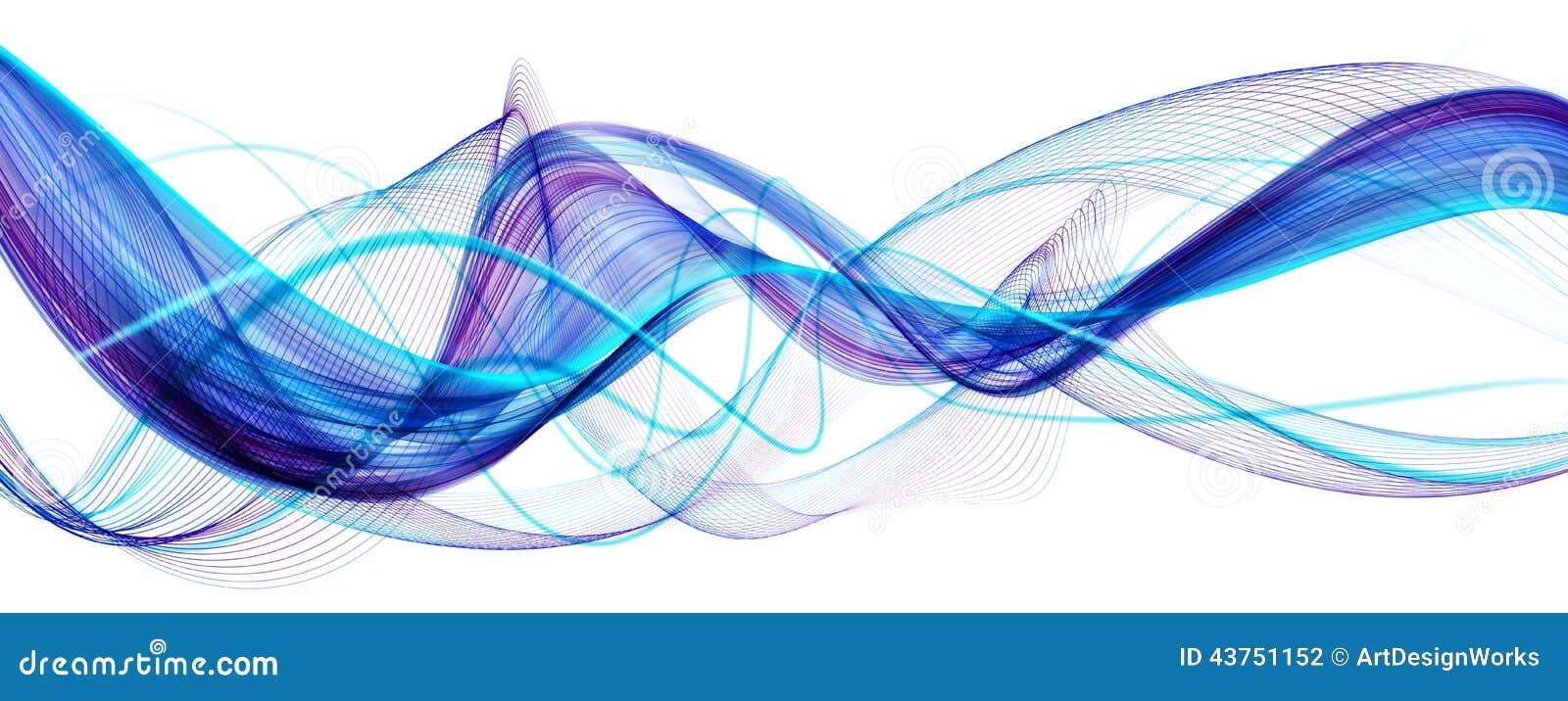Fondo ondulado moderno abstracto azul