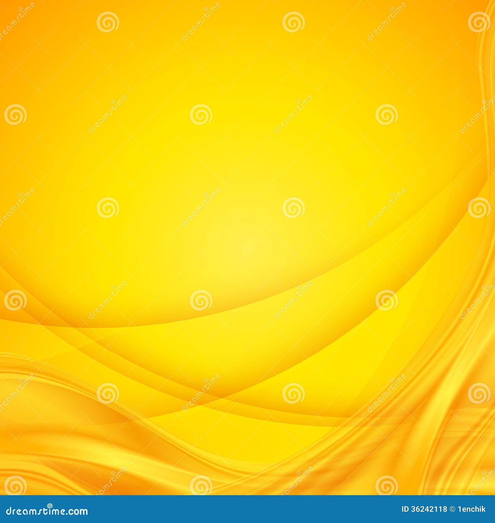 Fondo ondulato giallo brillante di vettore astratto